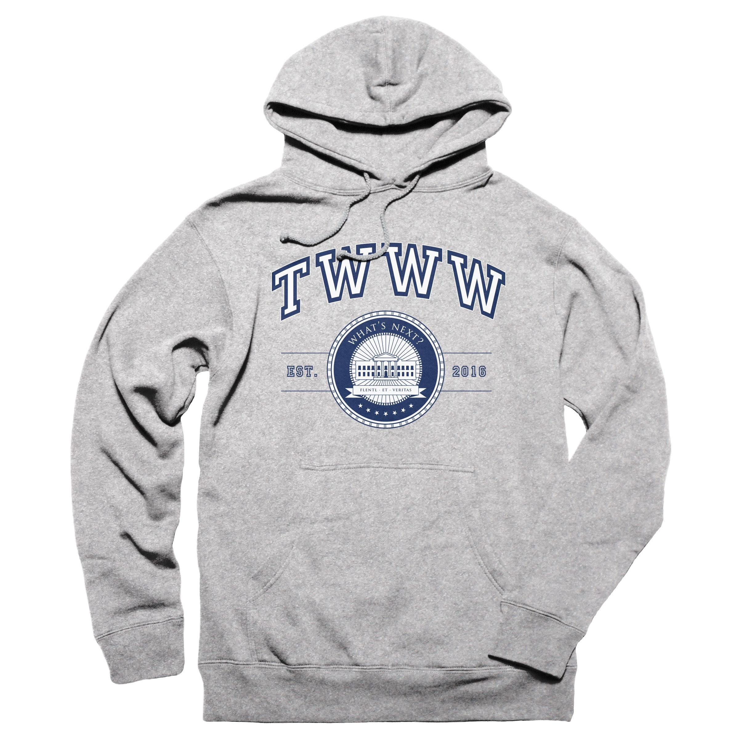 TWWW University Grey Heather Pullover Hoodie