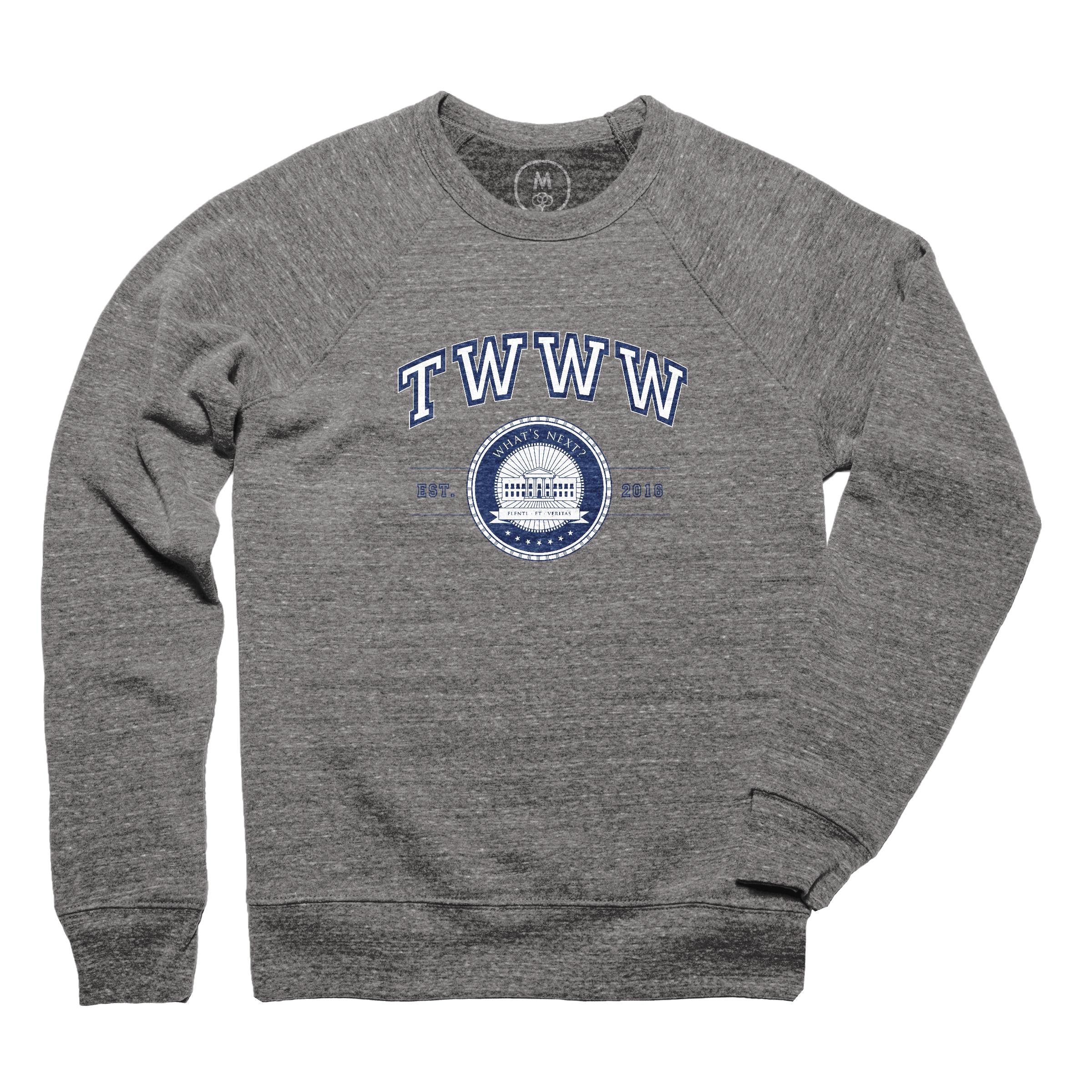 TWWW University Fashion Fit Tri-Blend Crewneck