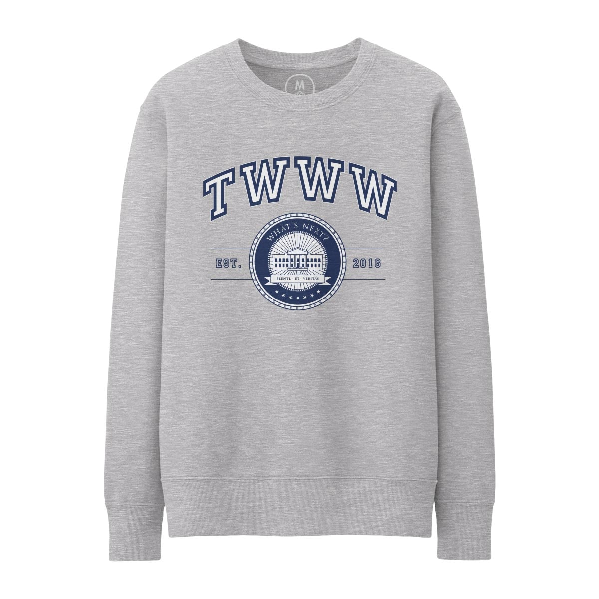 TWWW University Grey Heather Pullover Crewneck