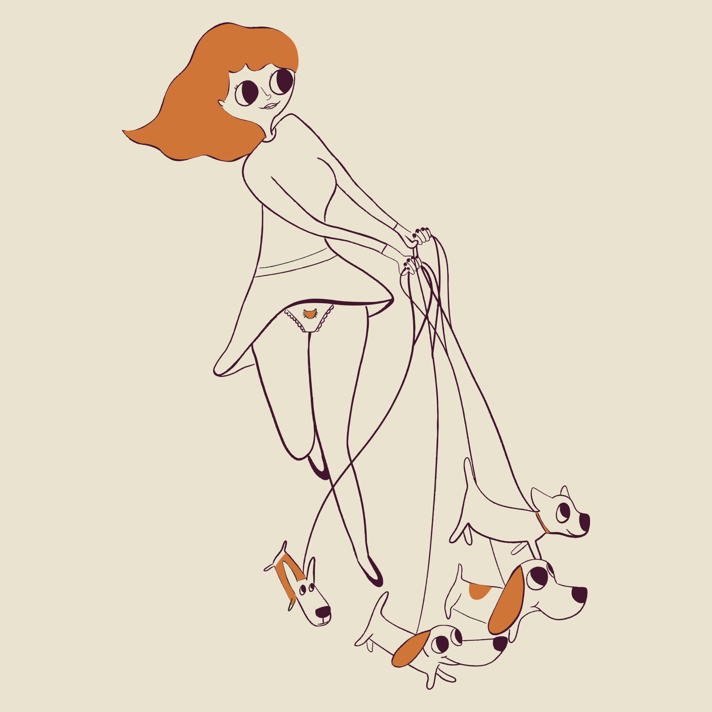 Dog Lady Detail