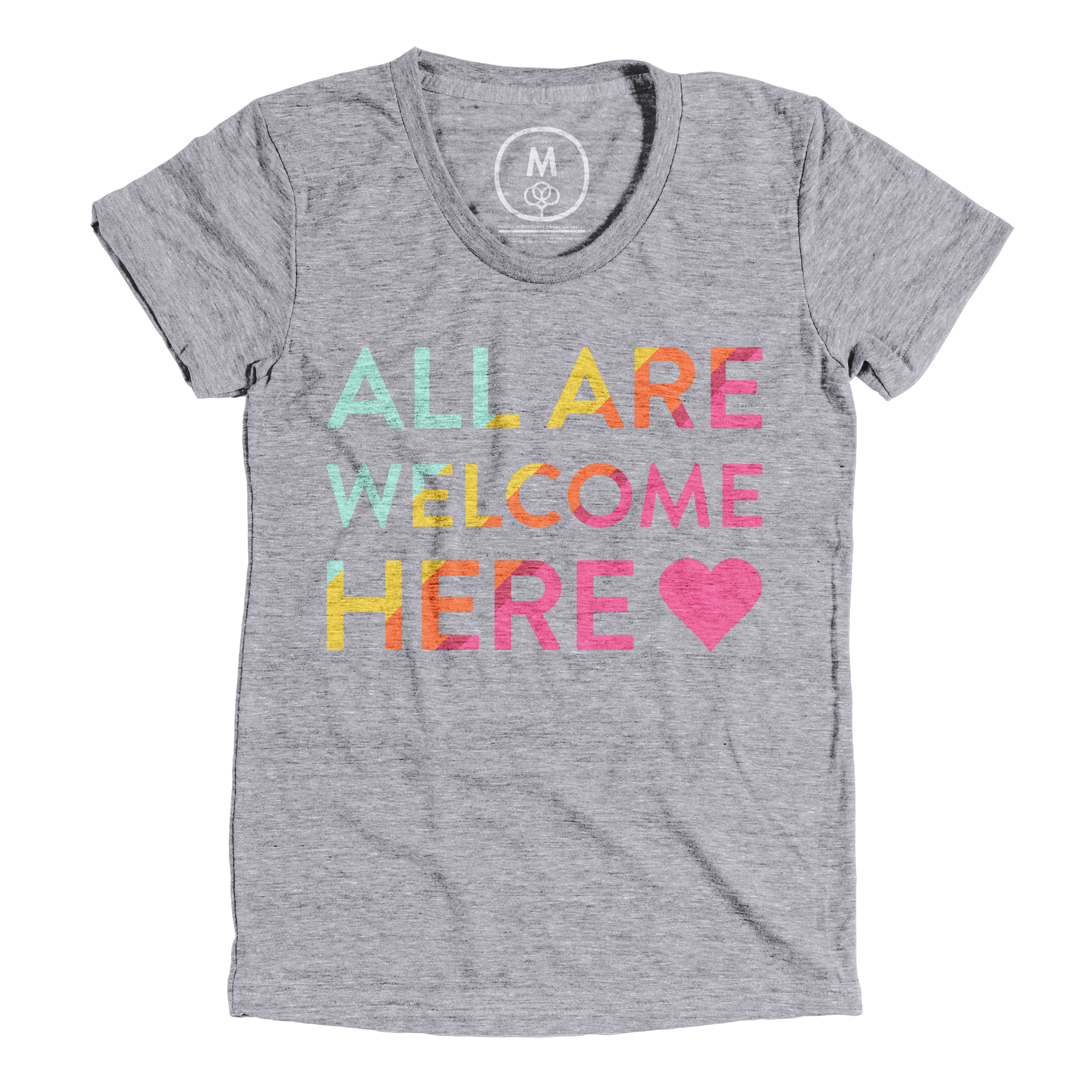 All Are Welcome Here Premium Heather (Women's)