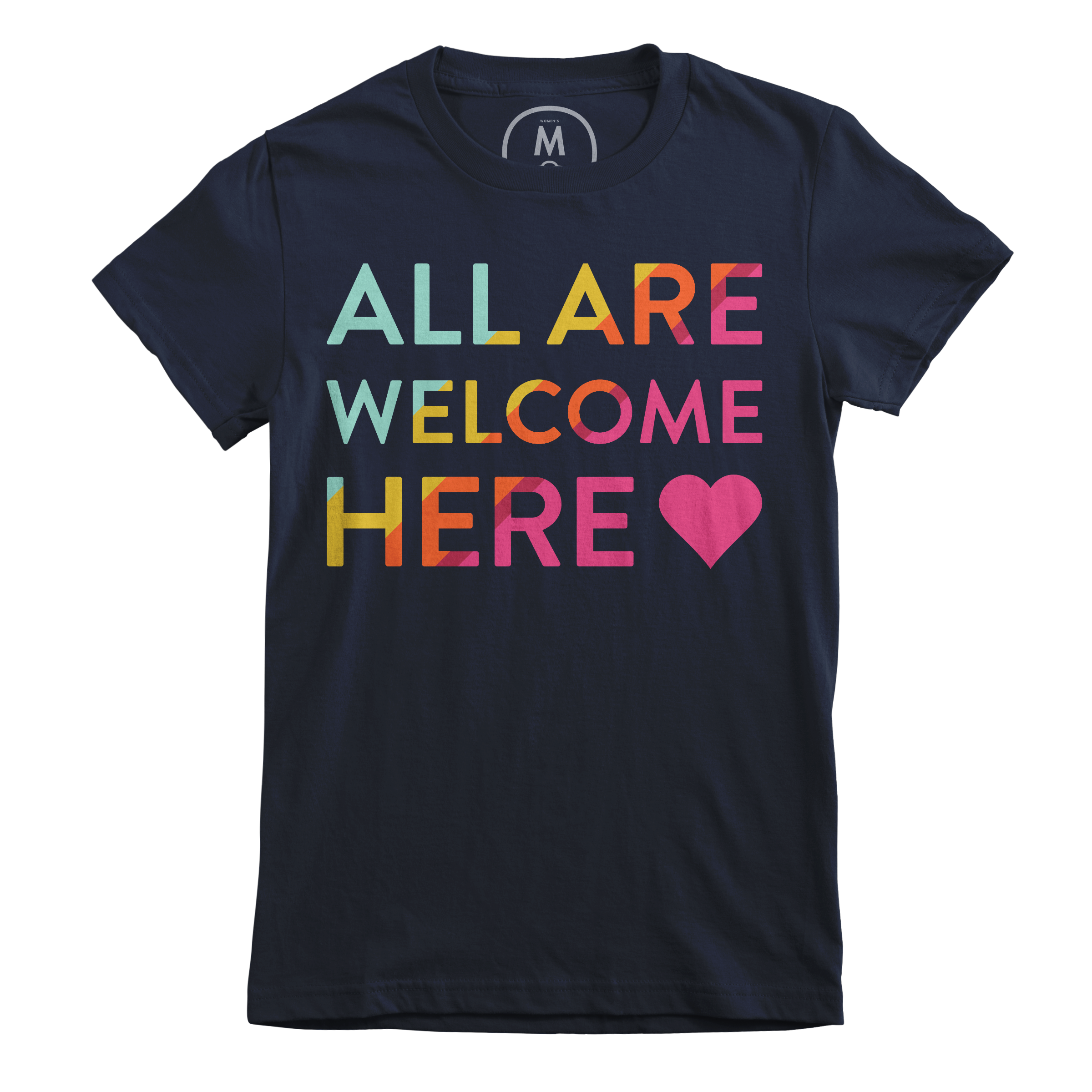 All Are Welcome Here Midnight Navy (Women's)