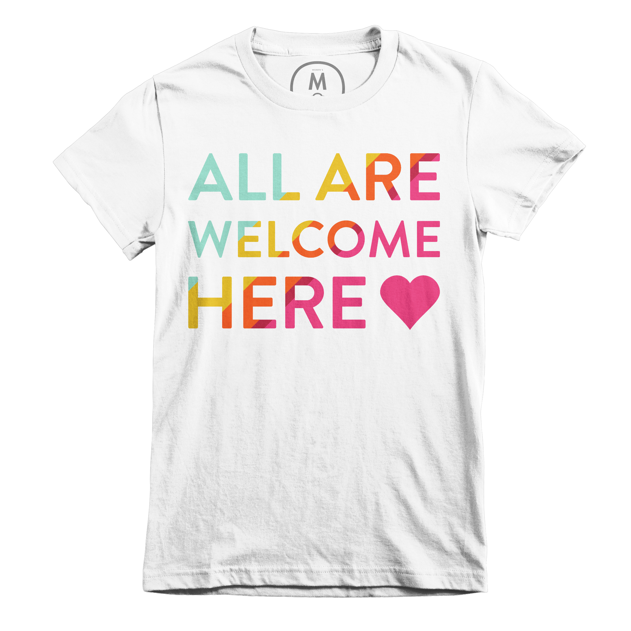 All Are Welcome Here White (Women's)