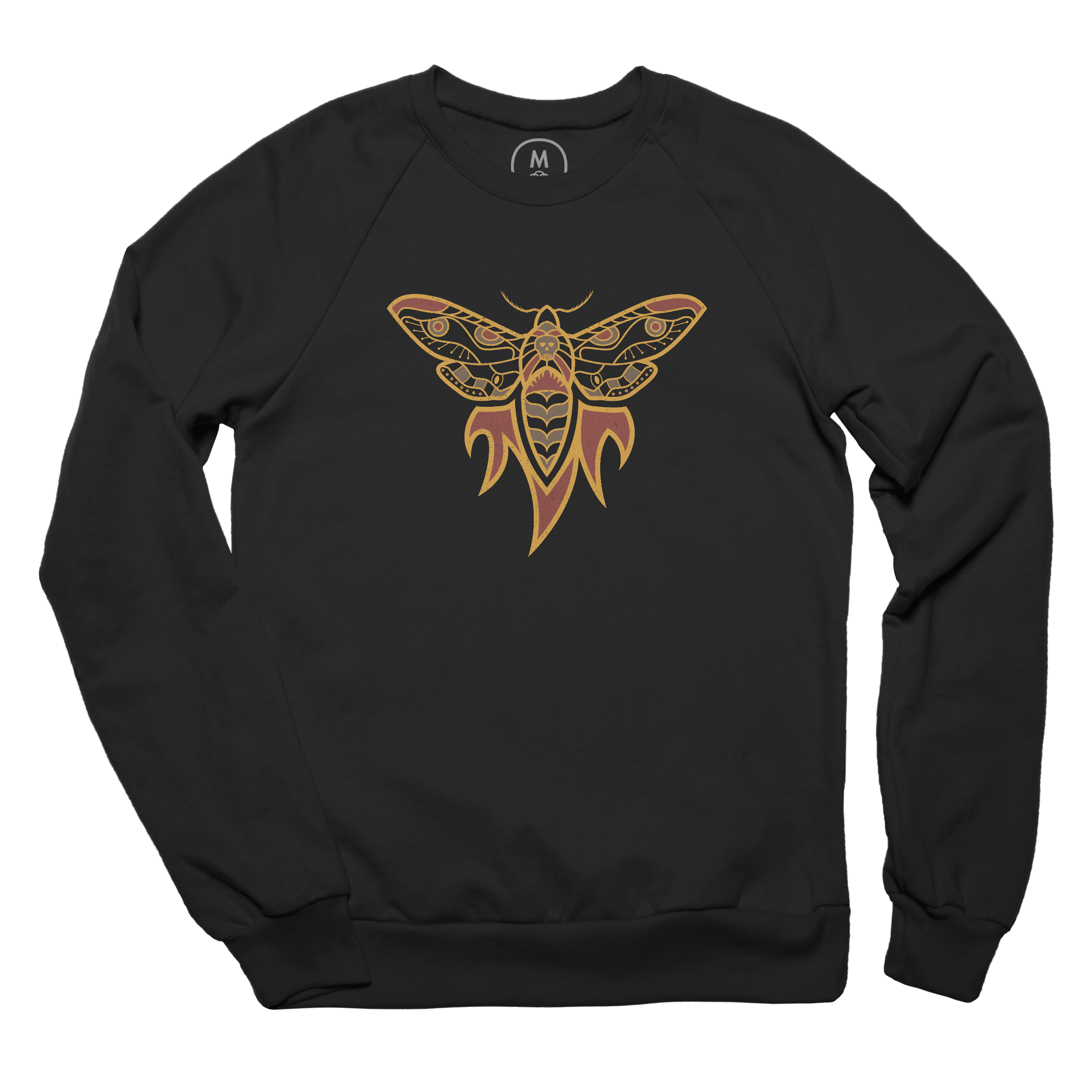 Flaming Moth Pullover Crewneck