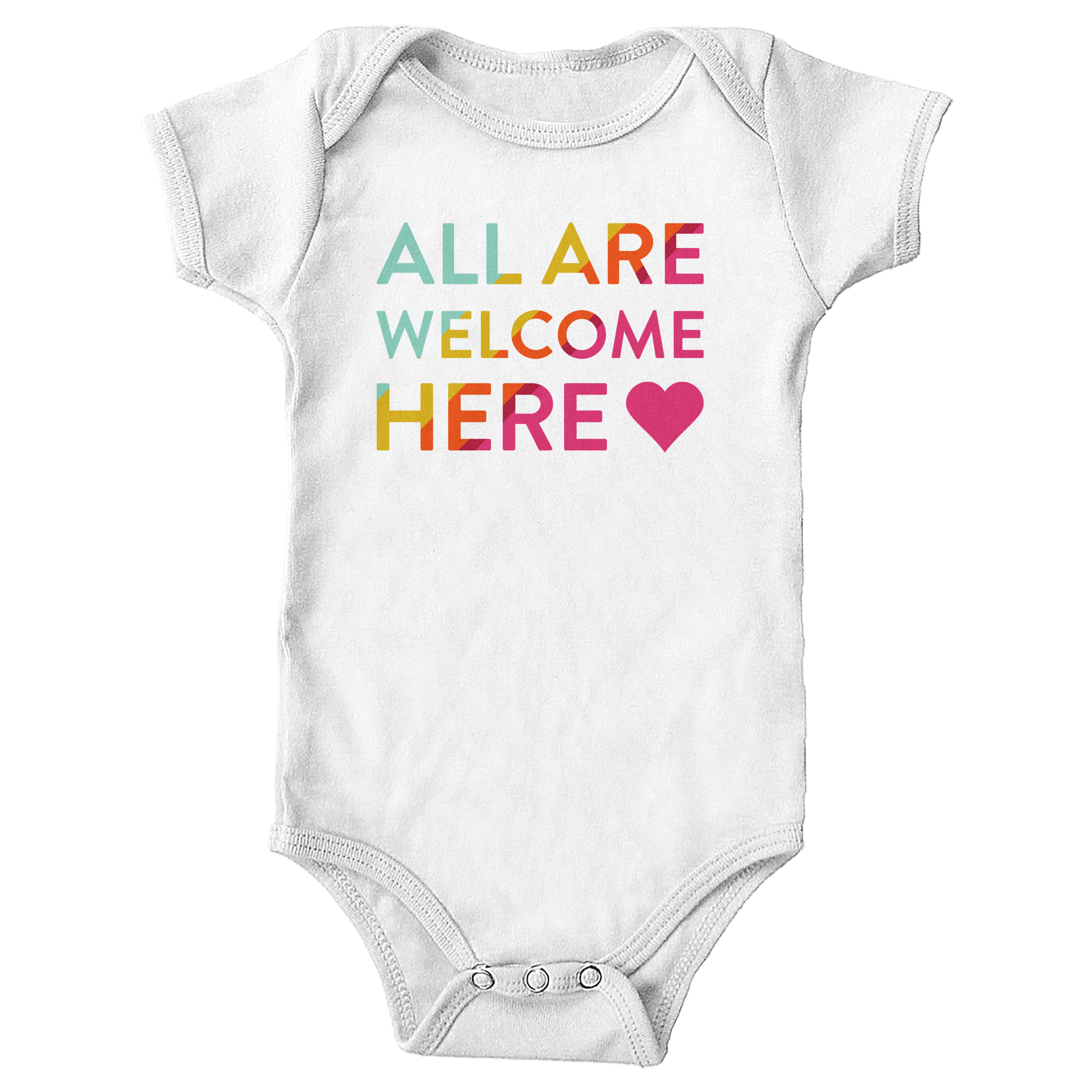 All Are Welcome Here White (Onesie)