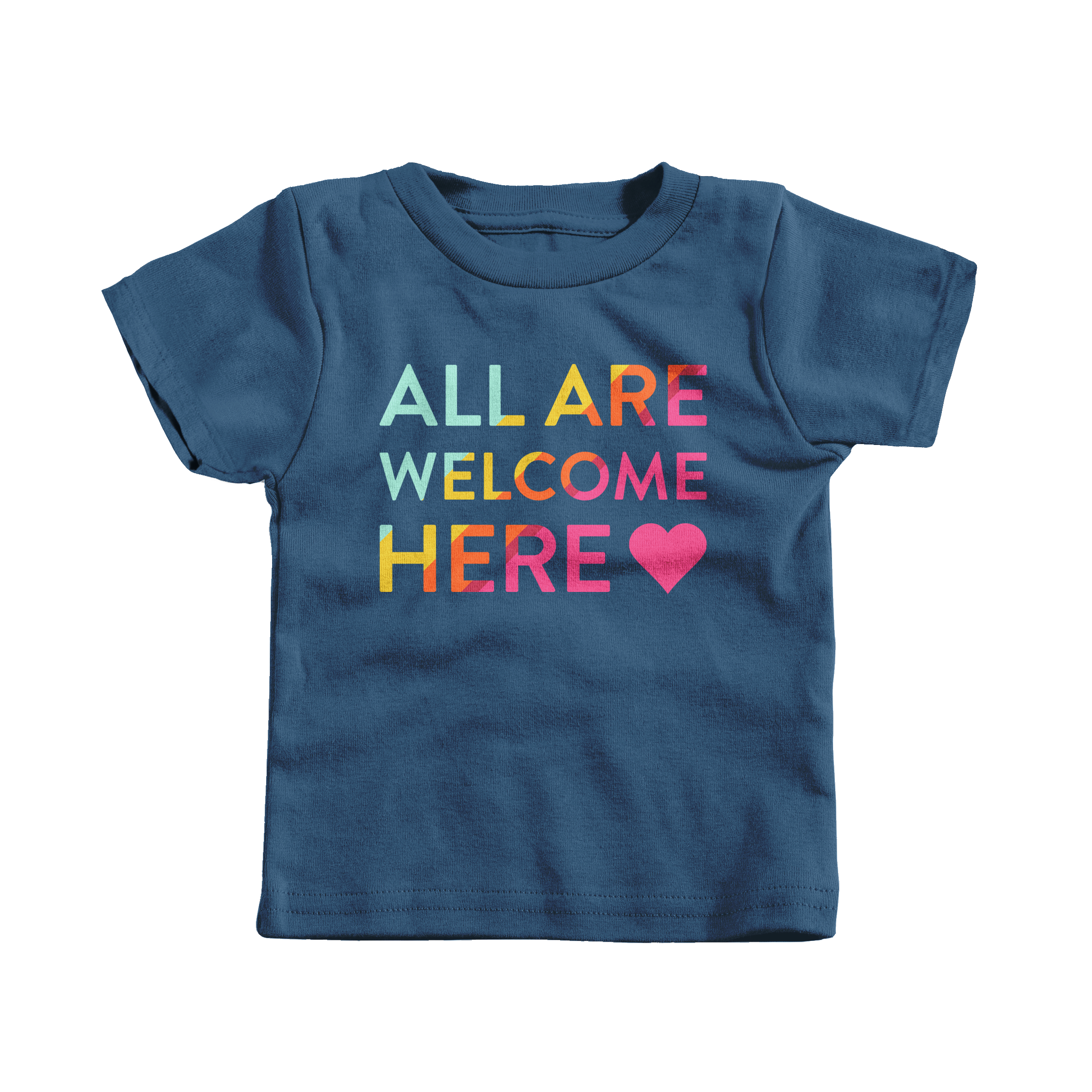 All Are Welcome Here Navy (T-Shirt)
