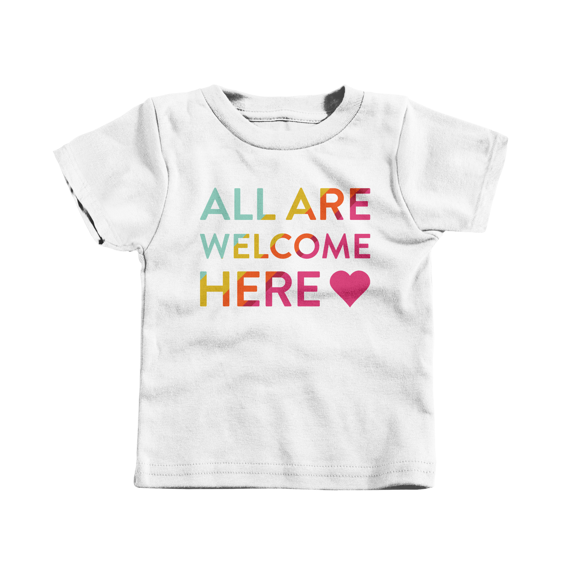 All Are Welcome Here White (T-Shirt)