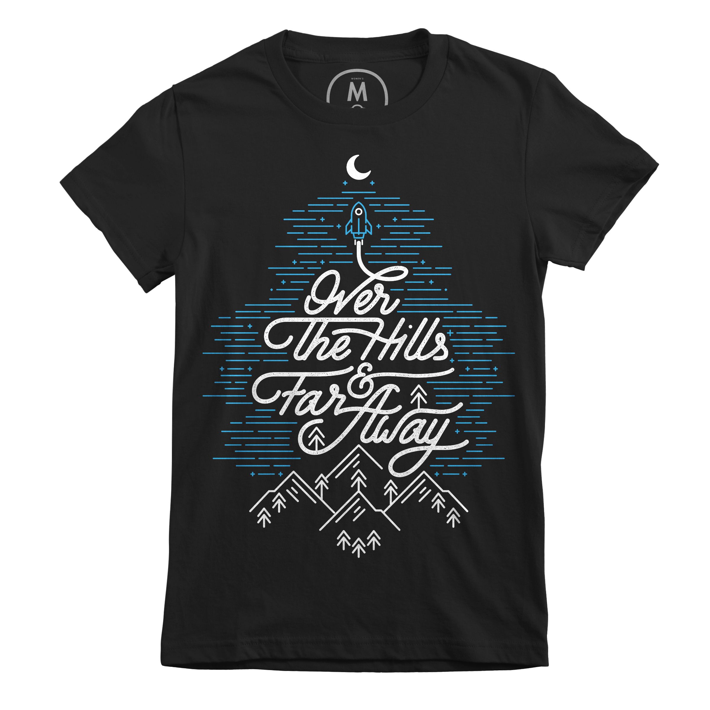 Over The Hills And Far Away Black (Women's)