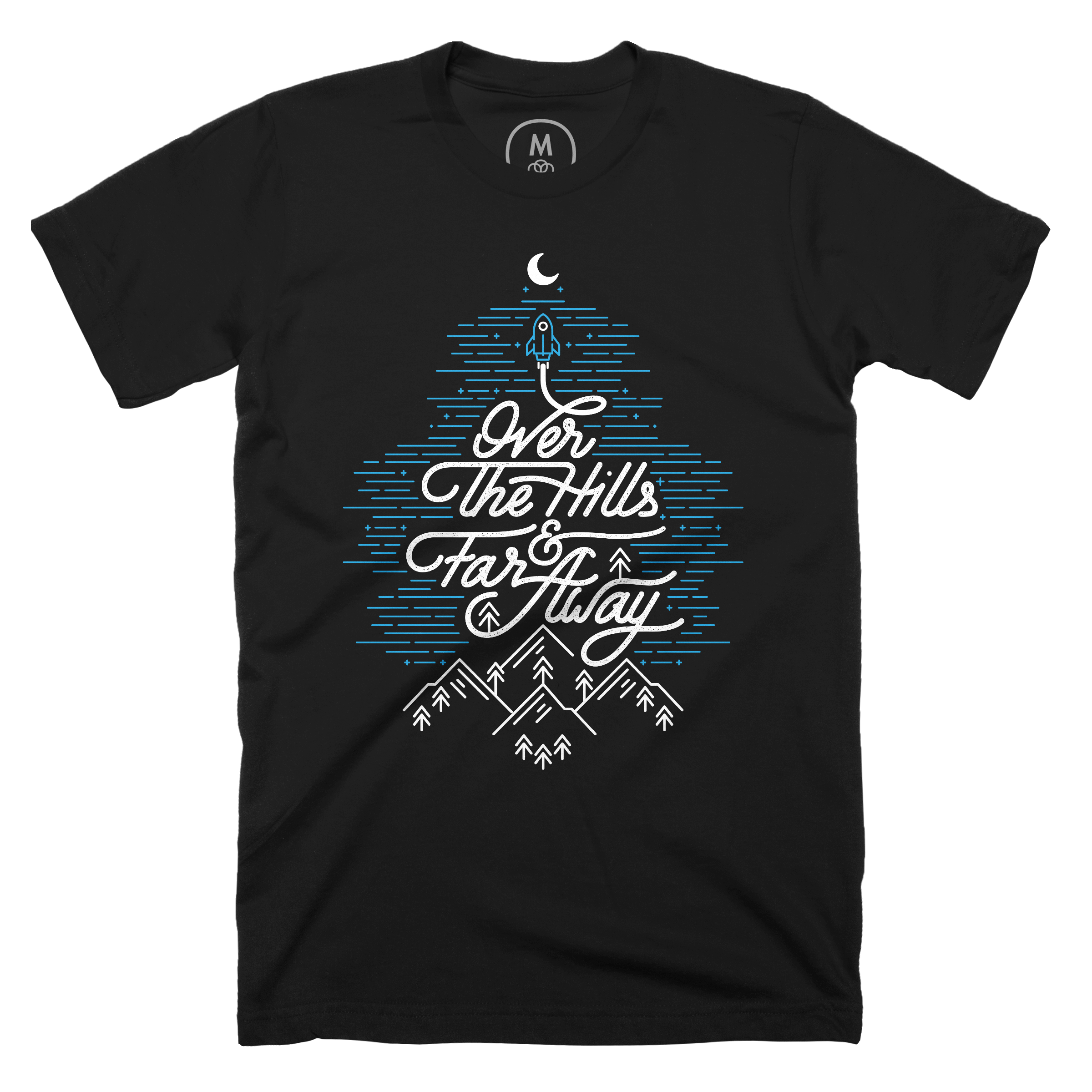 Over The Hills And Far Away Black (Men's)