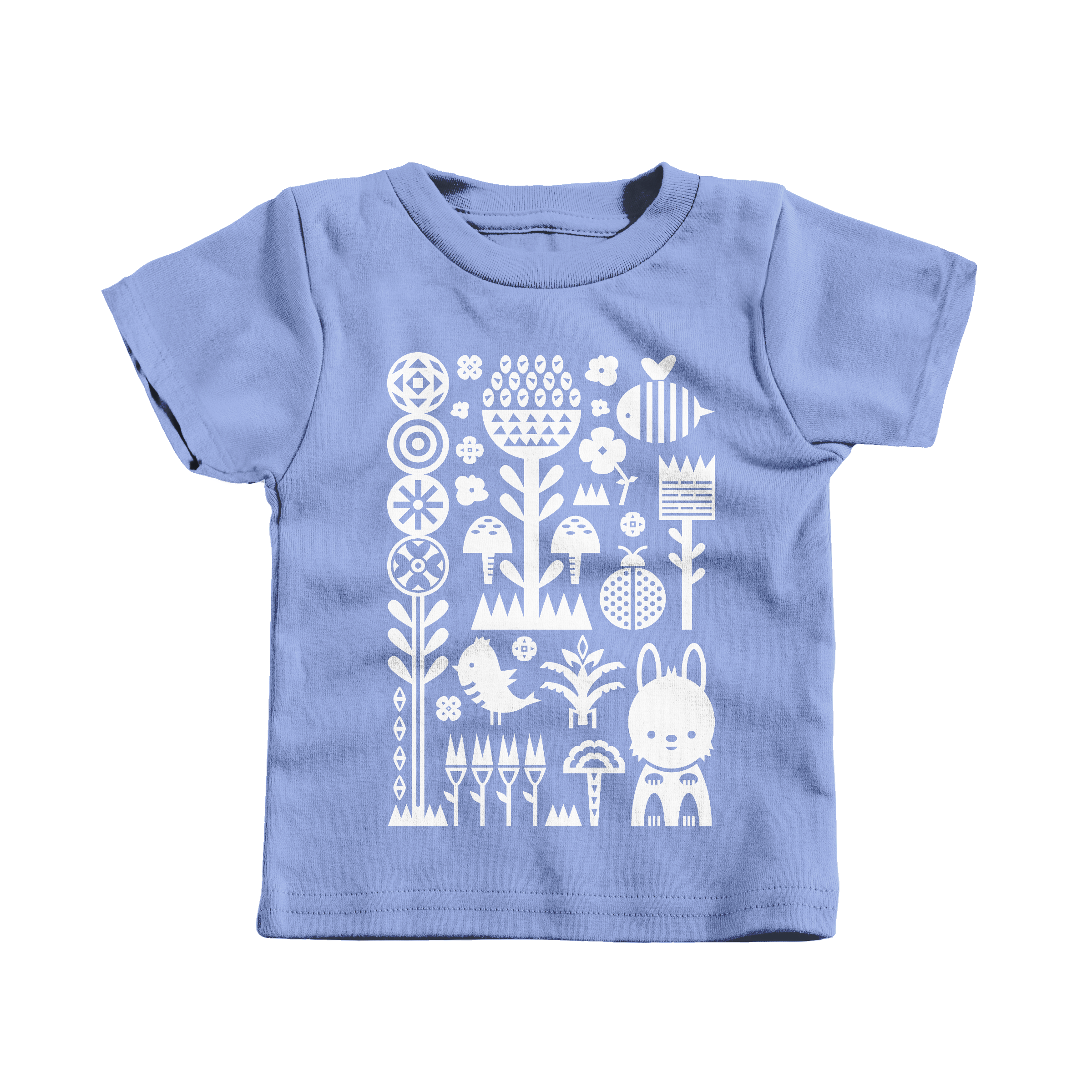 Garden Scene Carolina Blue (T-Shirt)