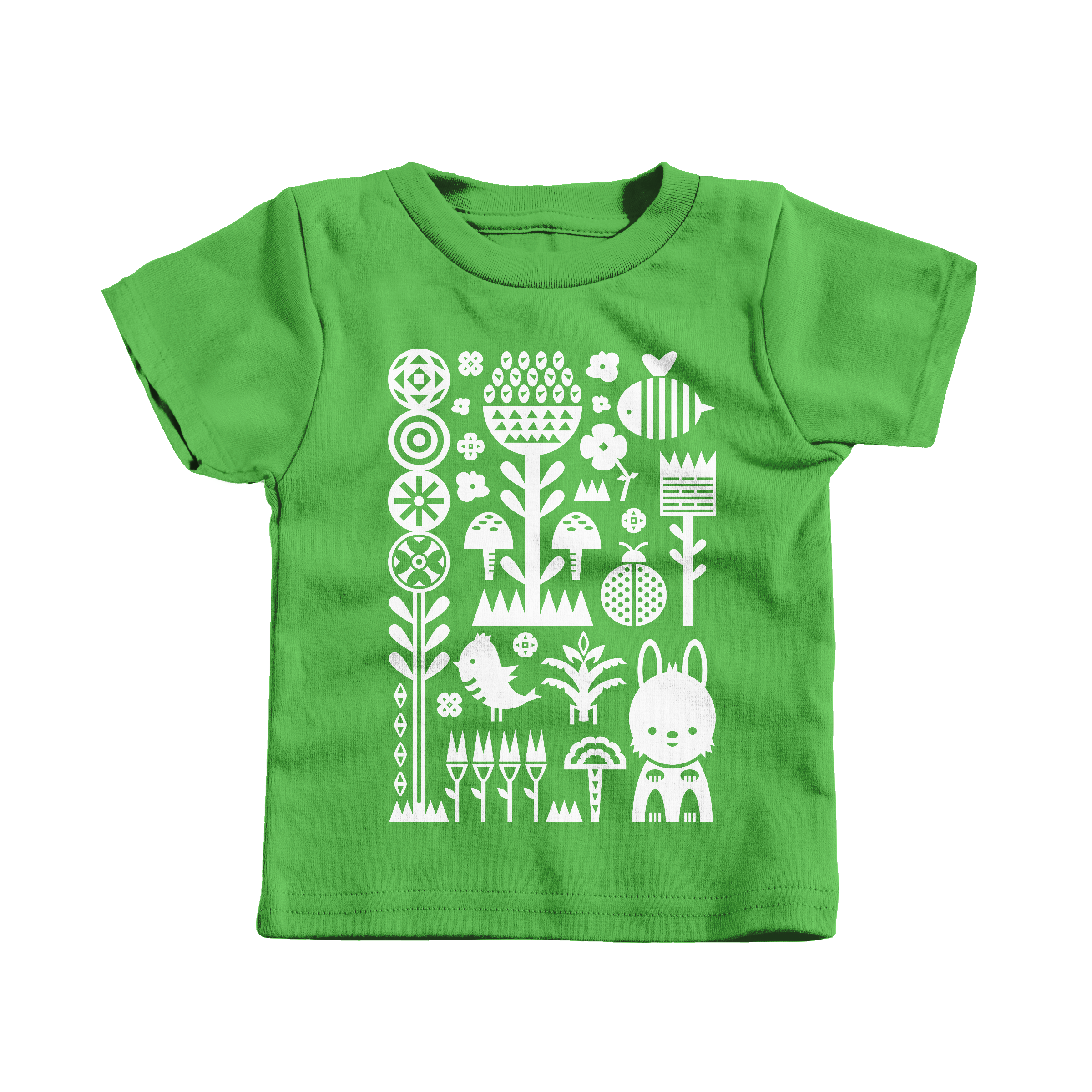 Garden Scene Apple (T-Shirt)