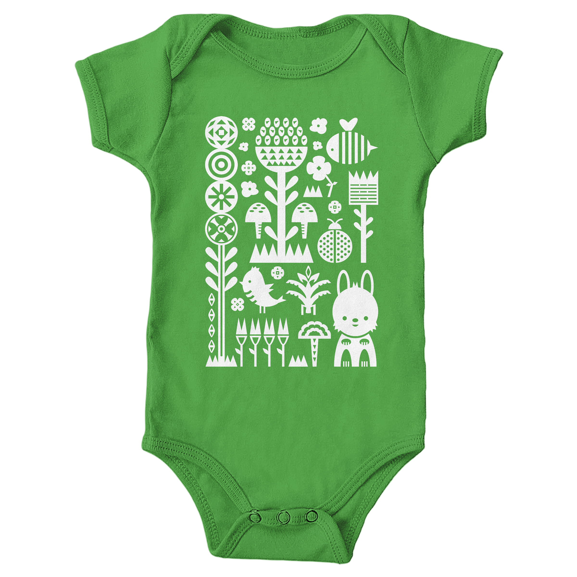 Garden Scene Apple (Onesie)