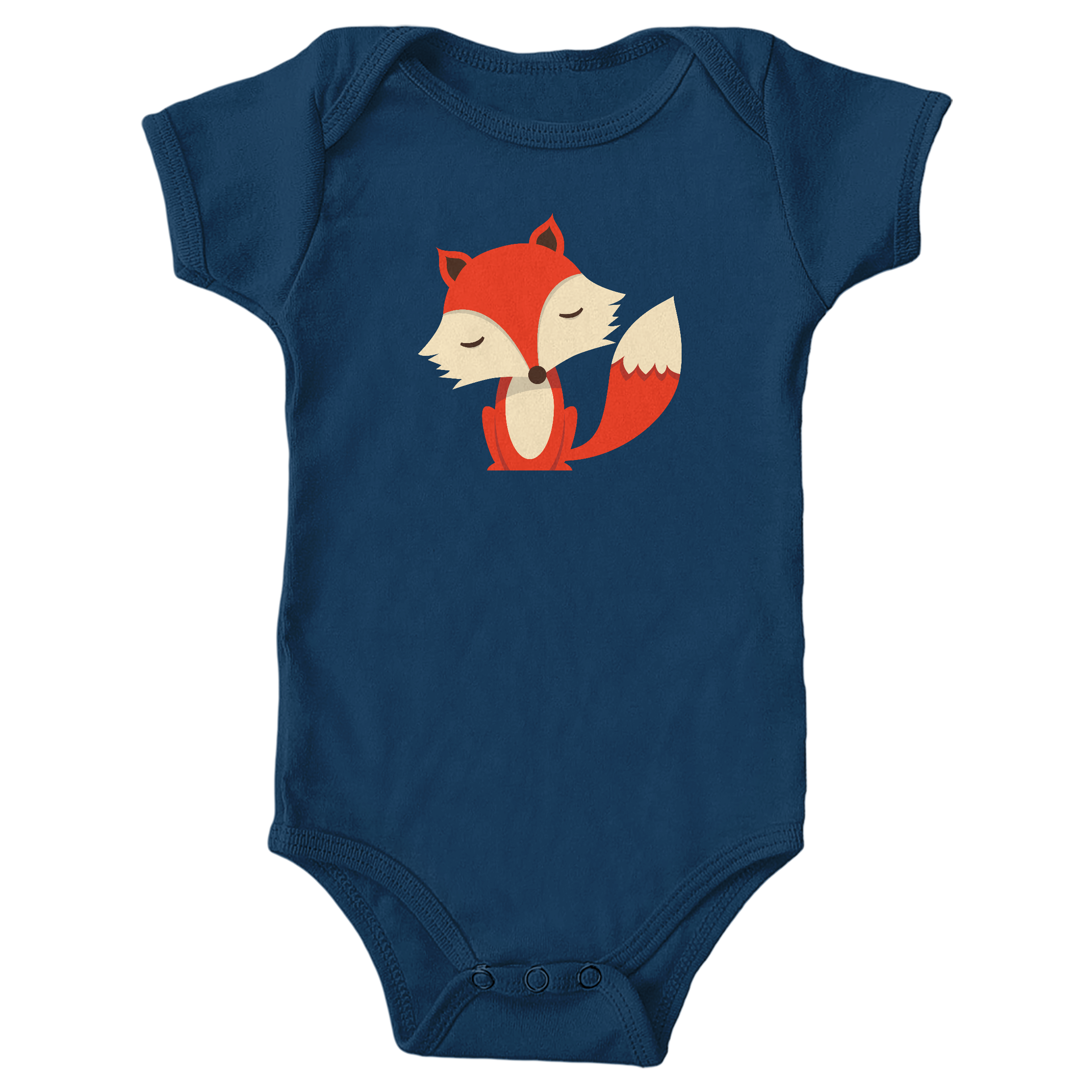 Friendly Fox Navy (Onesie)