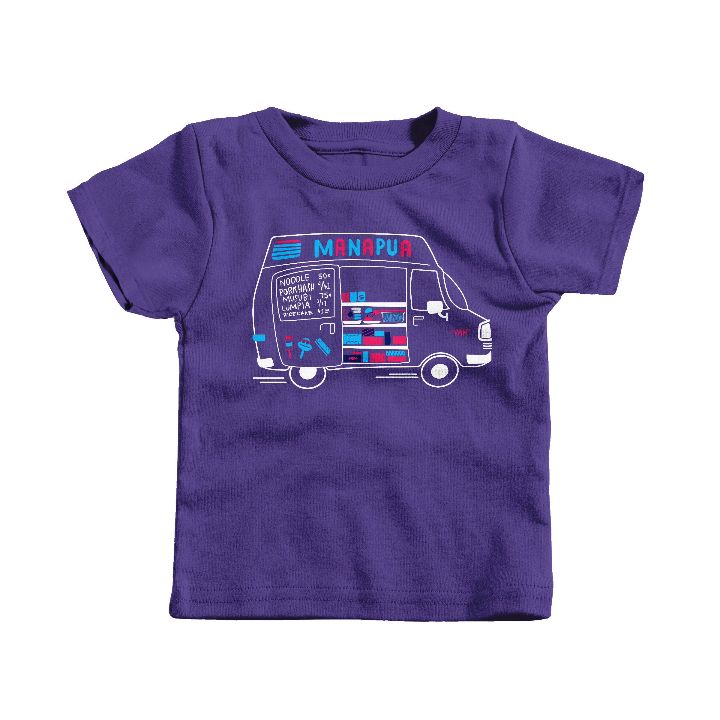 Manapua Truck Purple (T-Shirt)