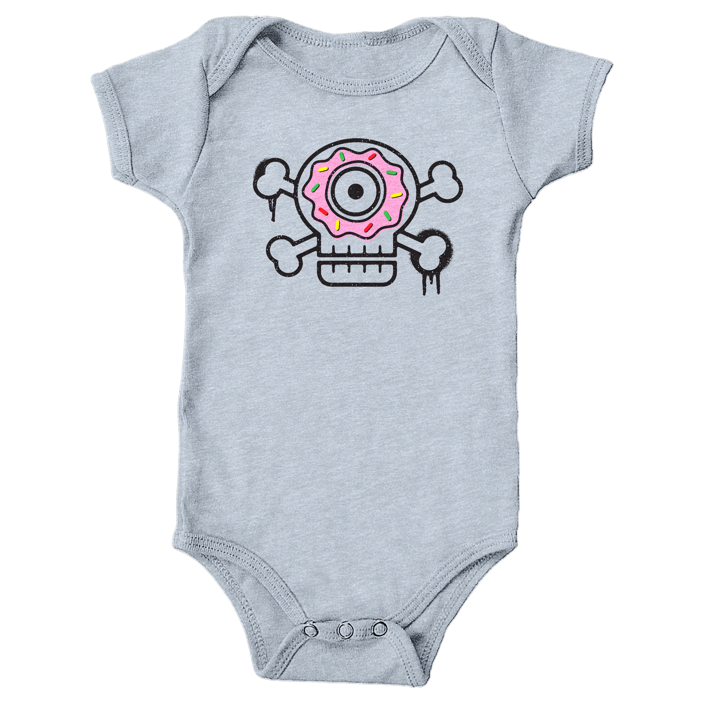 Sugar Skull Heather Grey (Onesie)