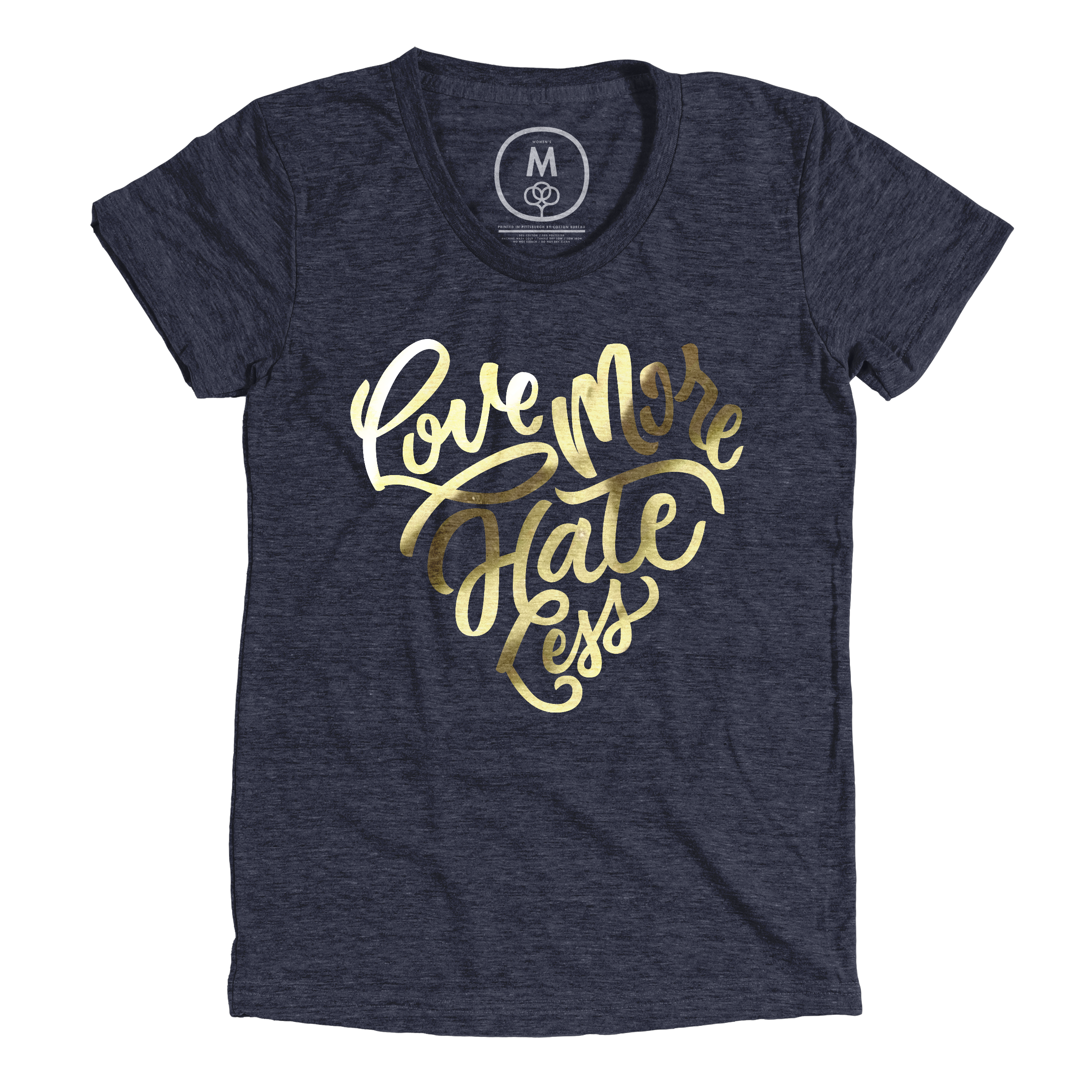 Love More Hate Less Vintage Navy (Women's)