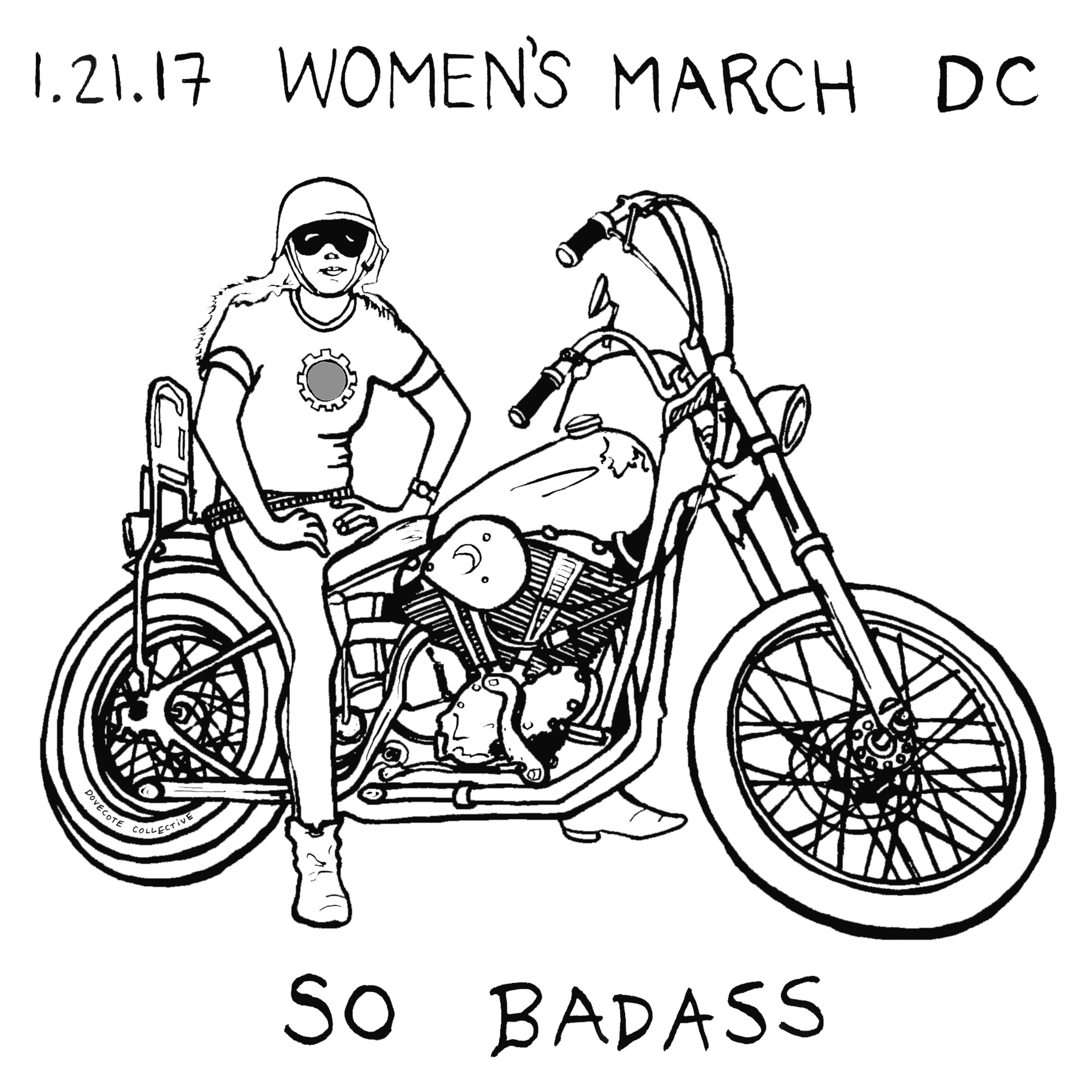 Women's March Biker Chick Detail