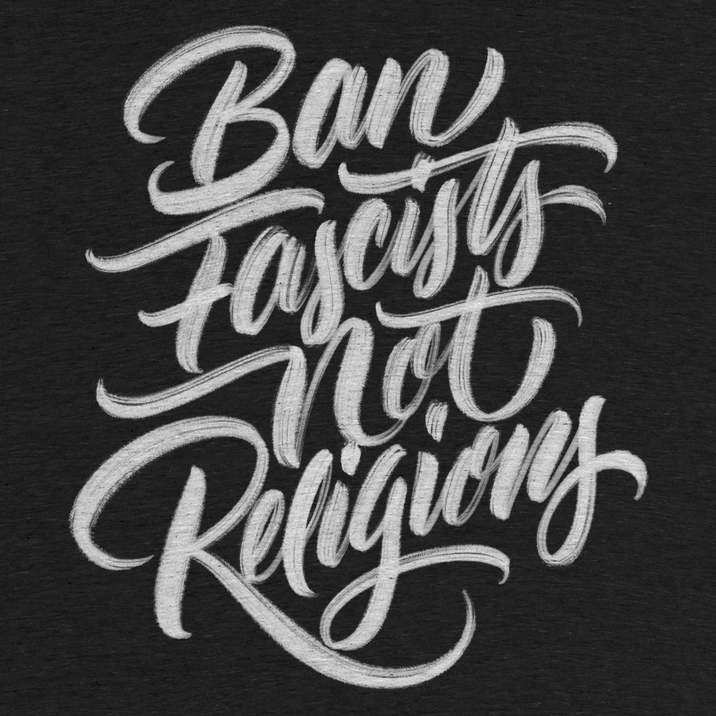 Ban Fascists Not Religions Detail