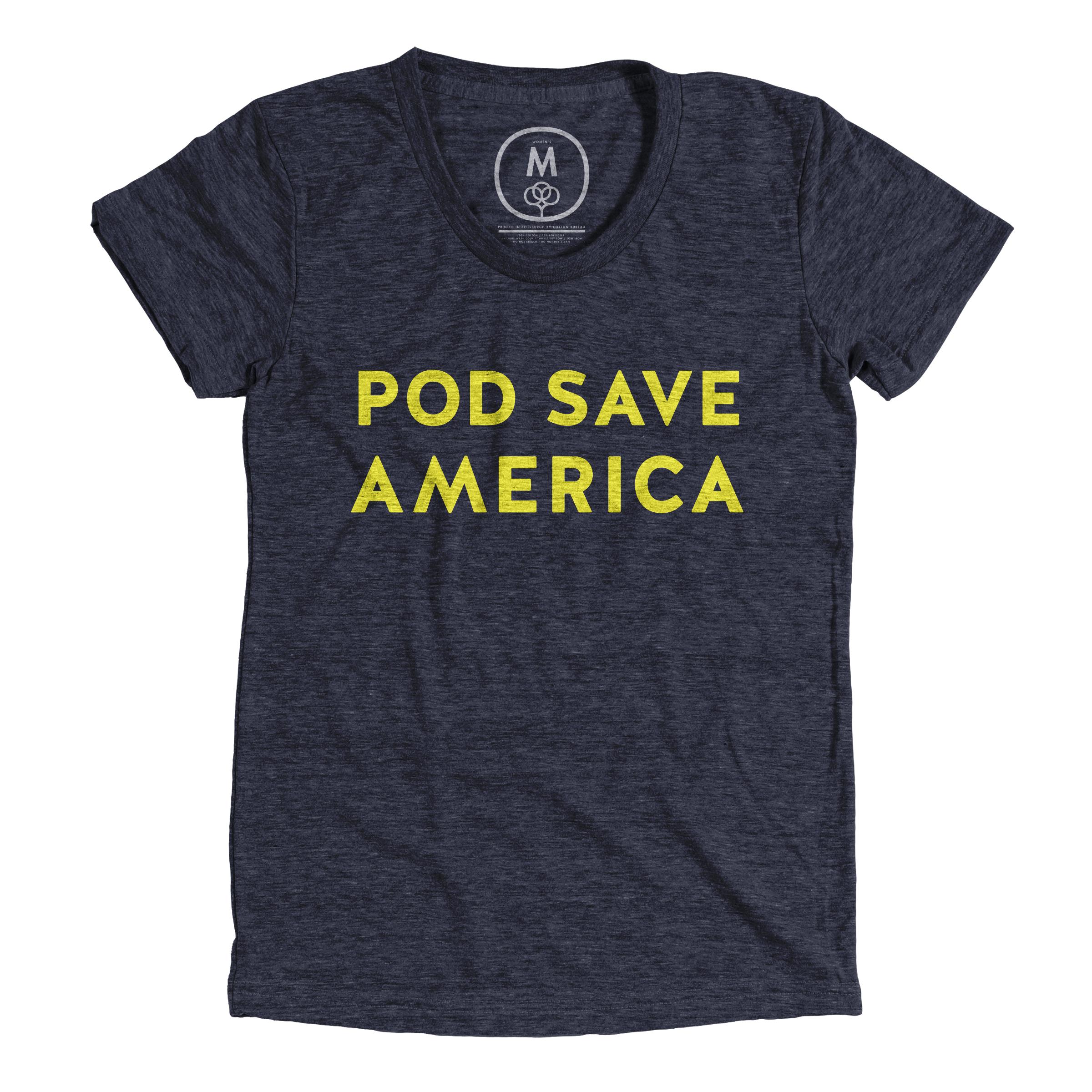 Pod Save America Vintage Navy (Women's)