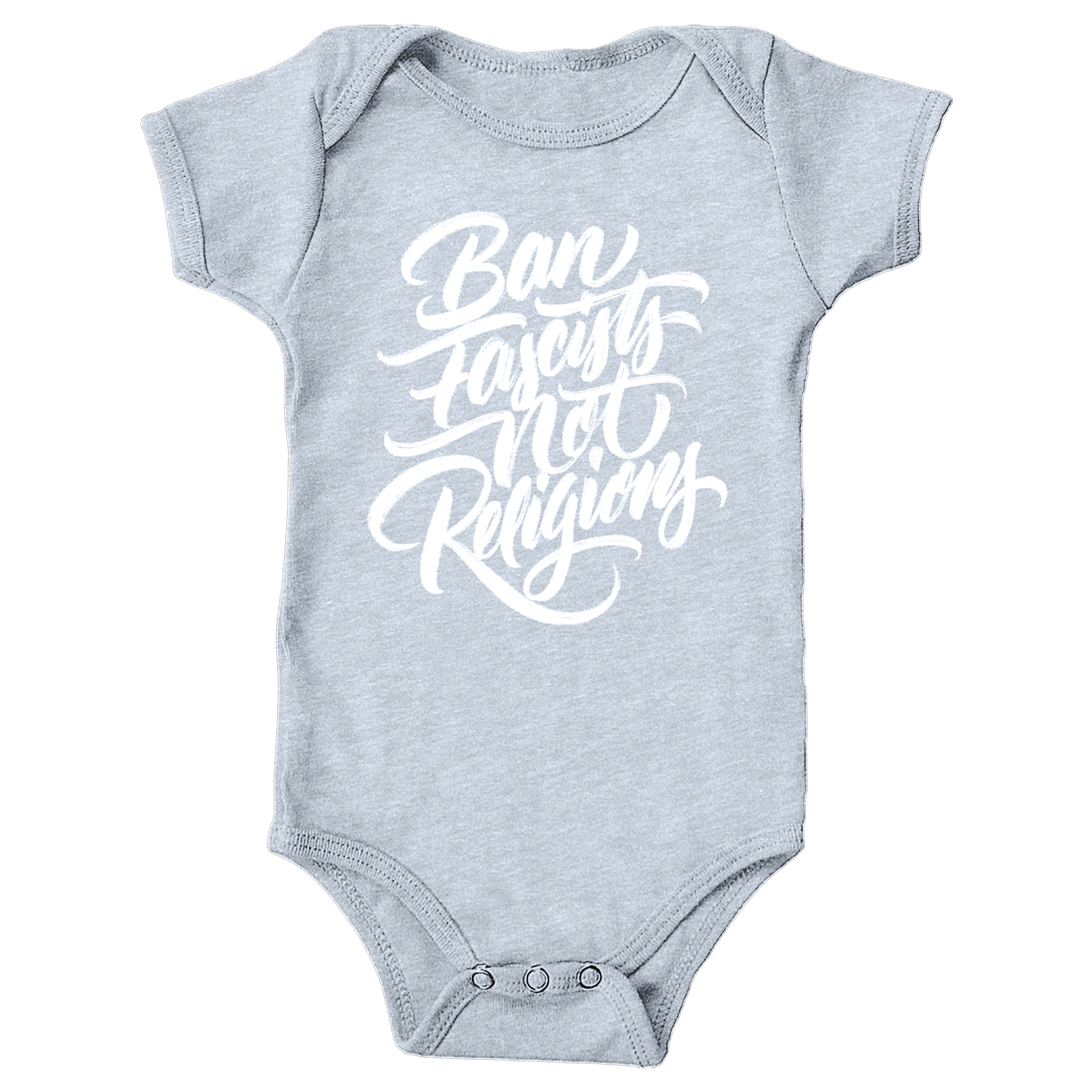 Ban Fascists Not Religions Heather Grey (Onesie)
