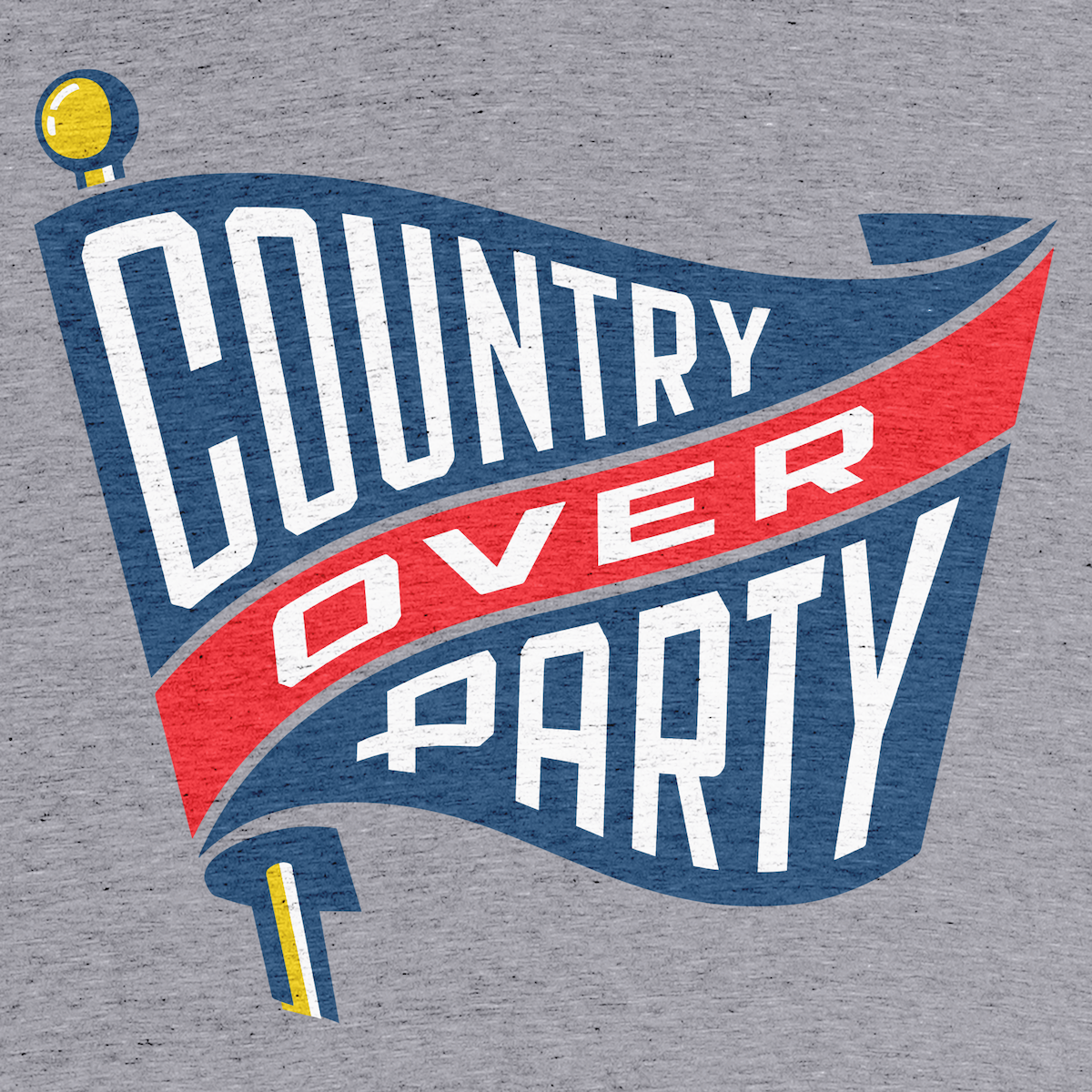 "421b44a04b7 ""Country Over Party"" graphic tee and pullover crewneck by Matthew Dowd."