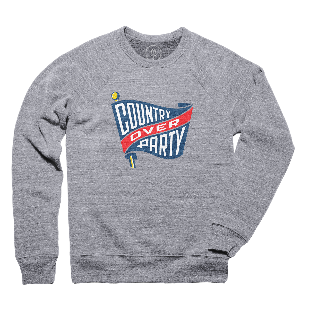"046e7b0d897 ""Country Over Party"" graphic tee and pullover crewneck by Matthew Dowd."