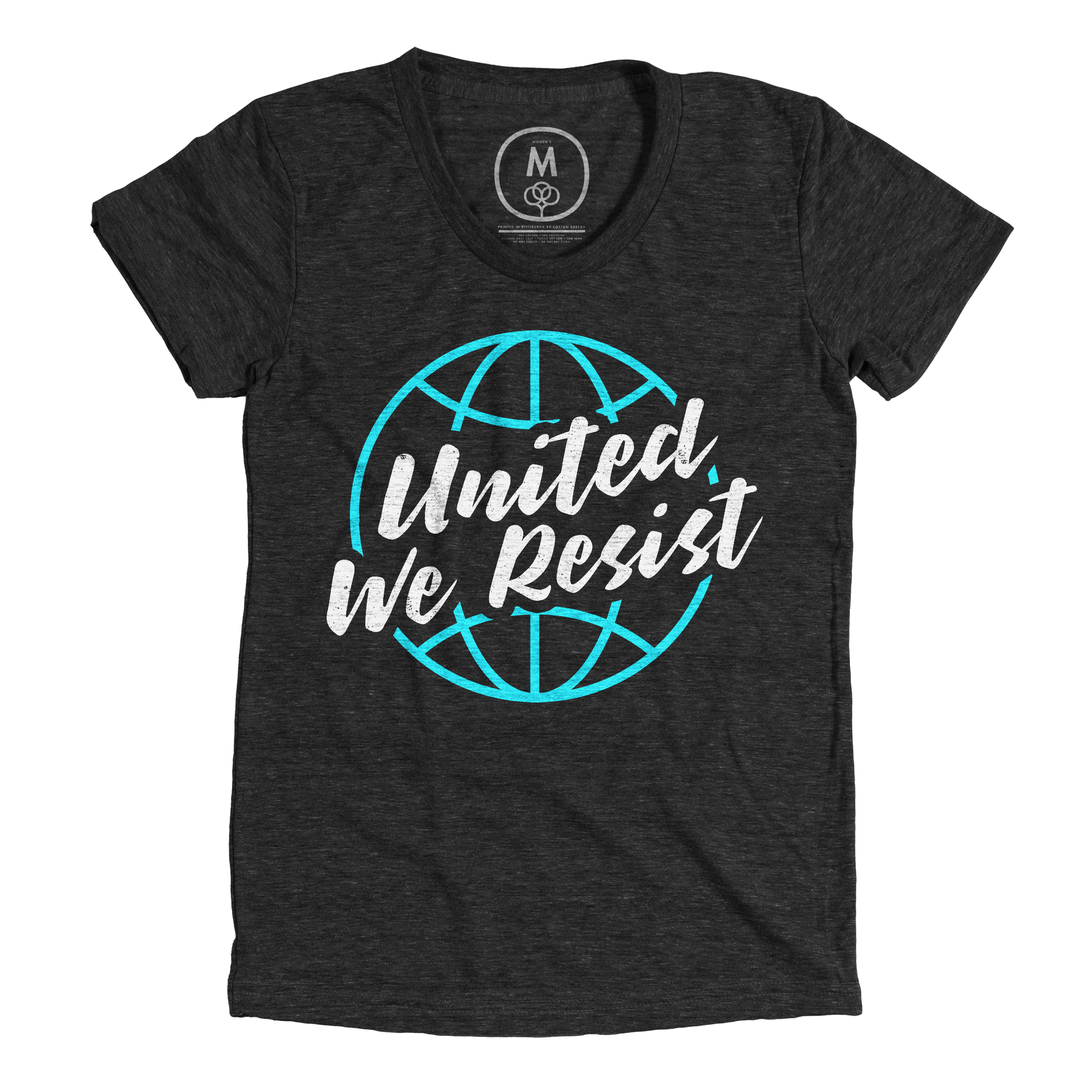 United We Resist Vintage Black (Women's)