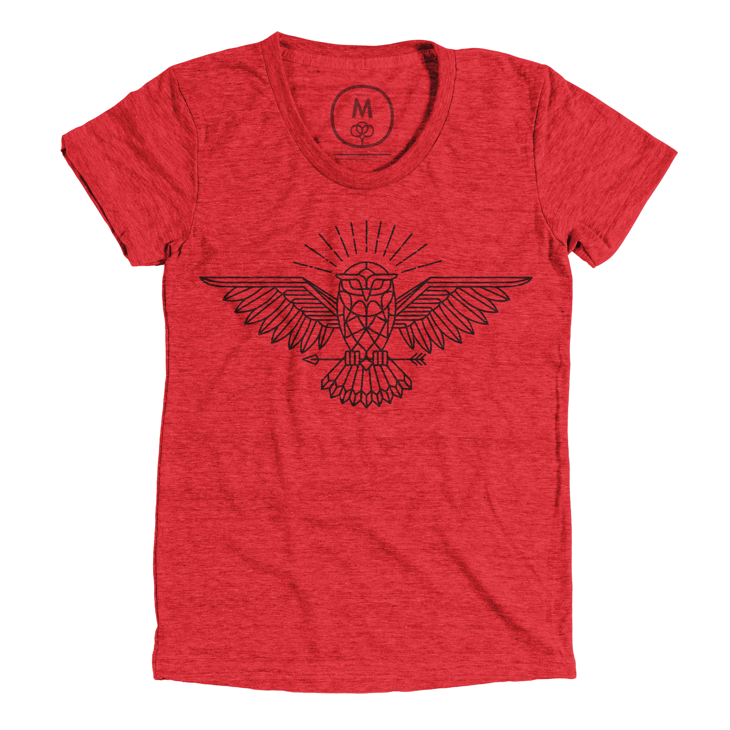 All Knowing Owl Vintage Red (Women's)