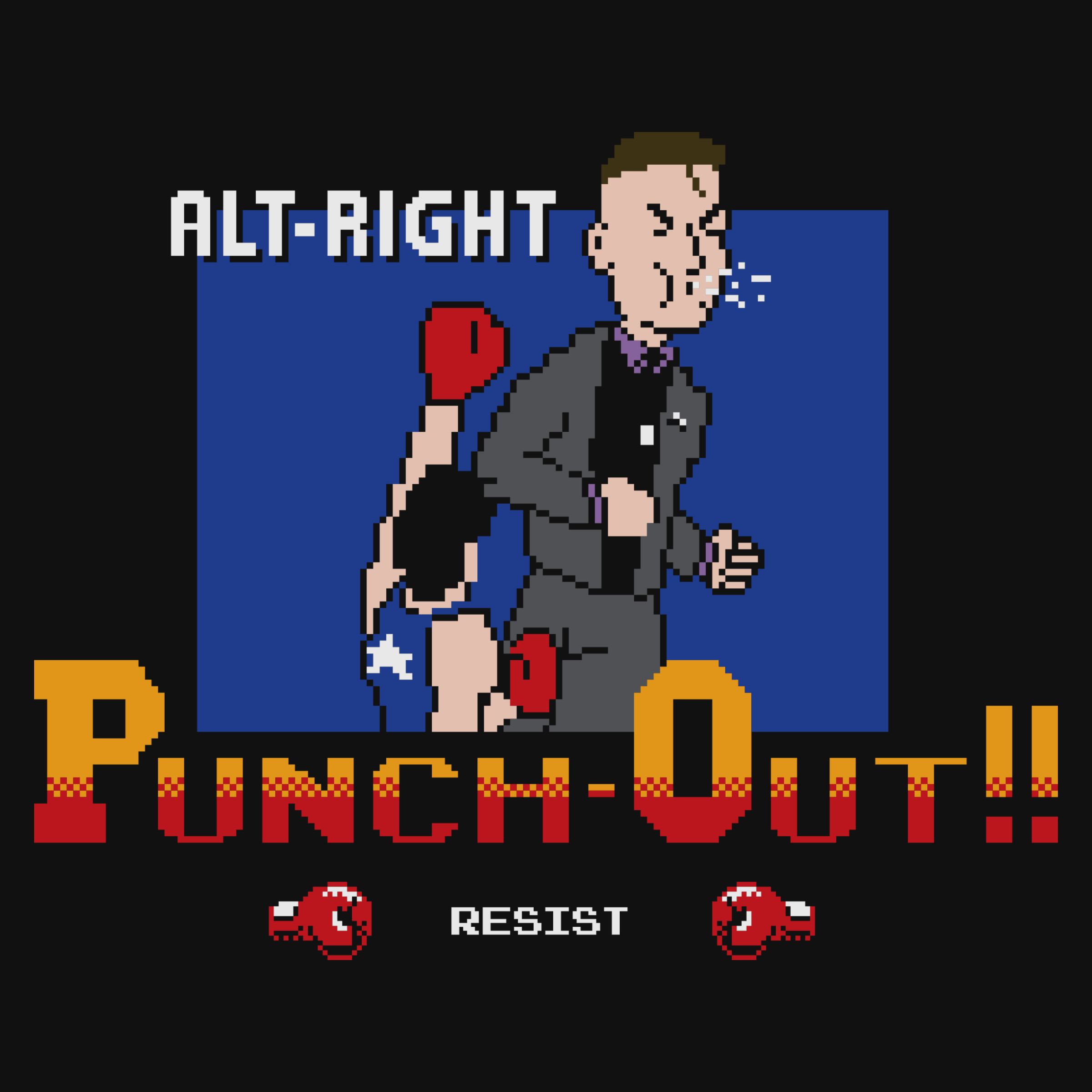 Alt-Right Punch-Out!! Detail