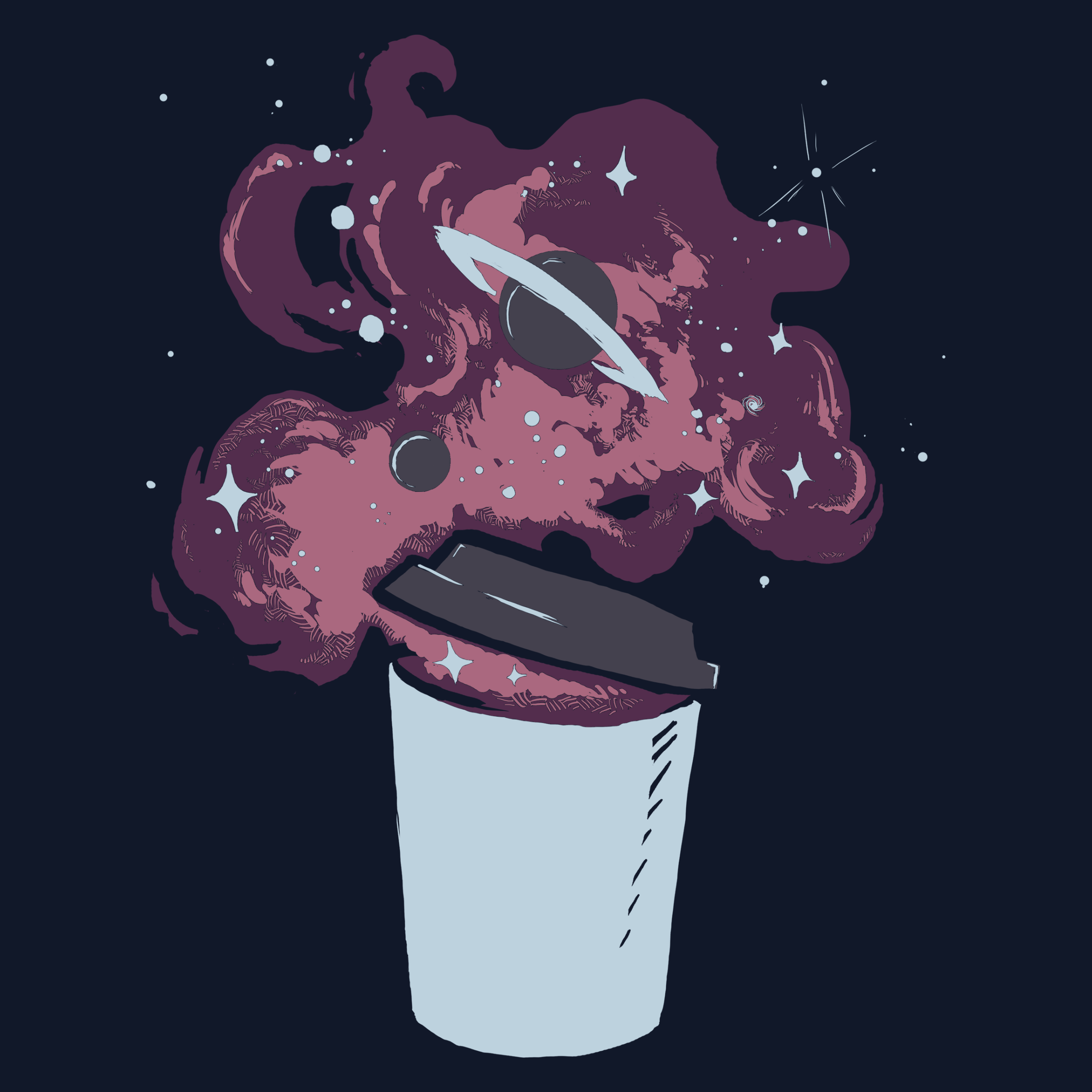 Cup of Something Cosmic Detail