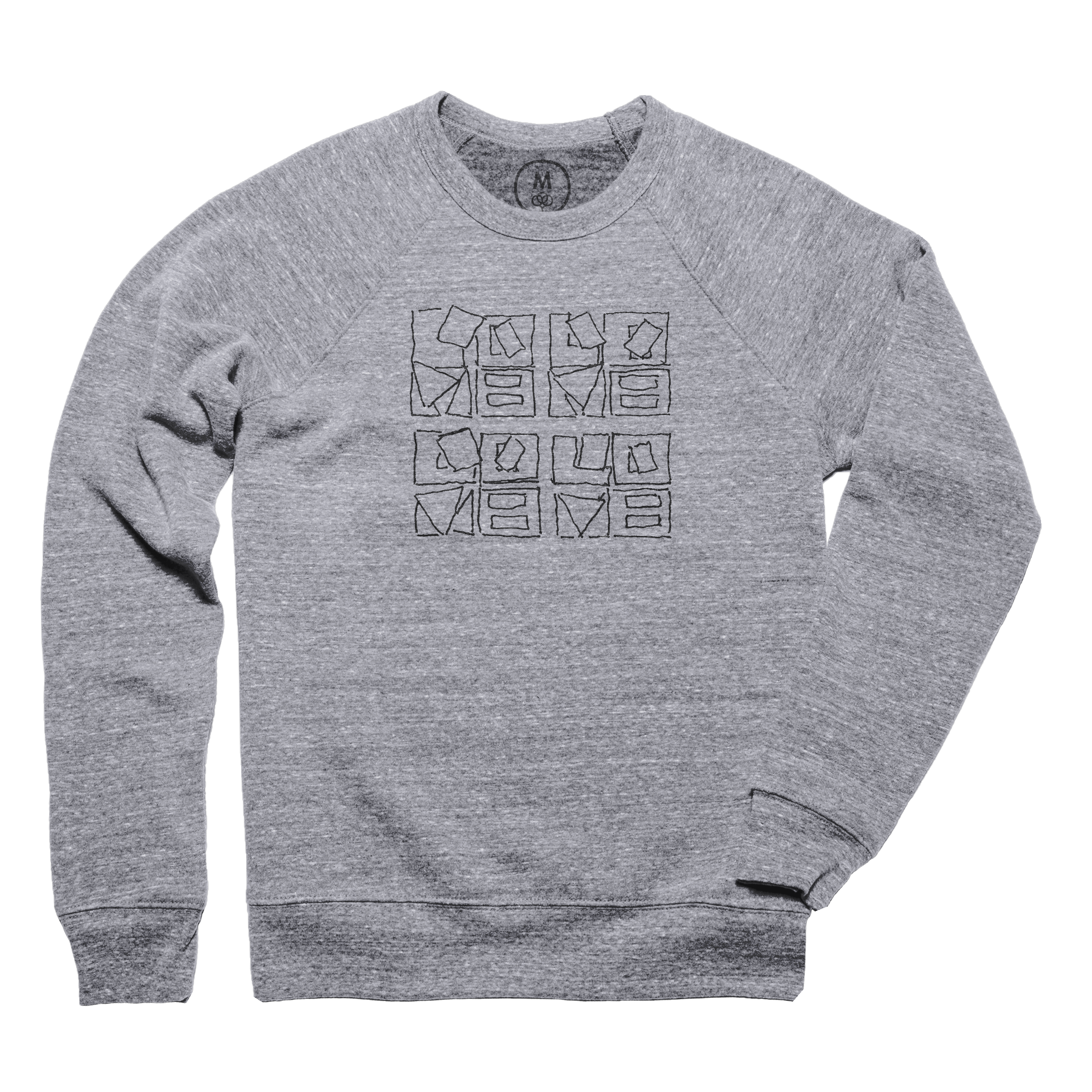 Love Blocks Pullover Crewneck