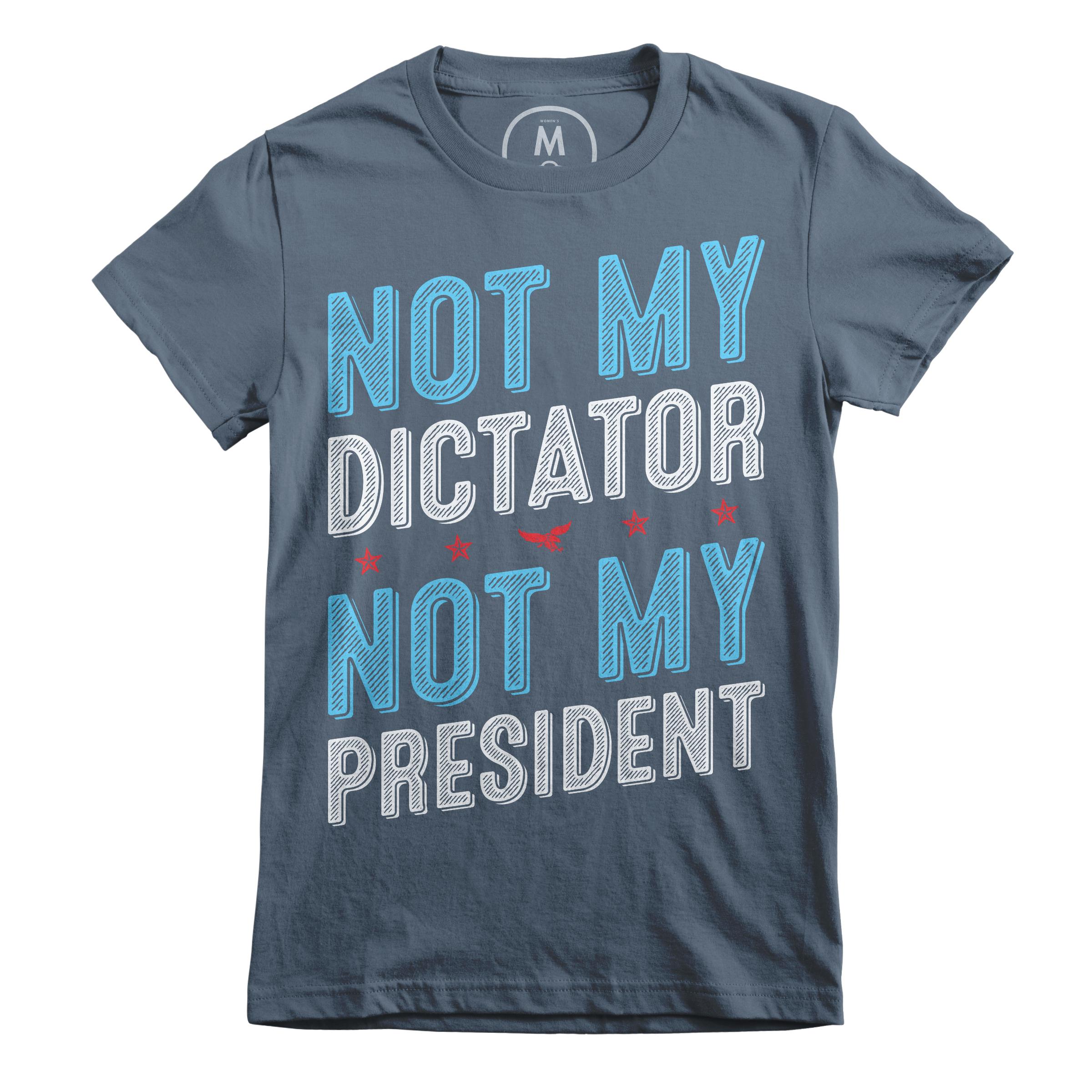 Not My Dictator Indigo (Women's)