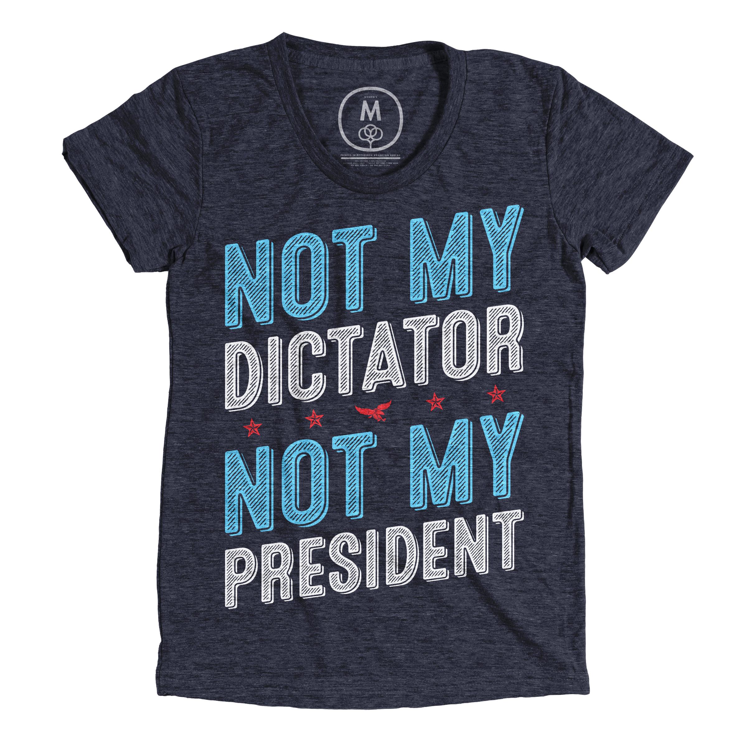 Not My Dictator Vintage Navy (Women's)
