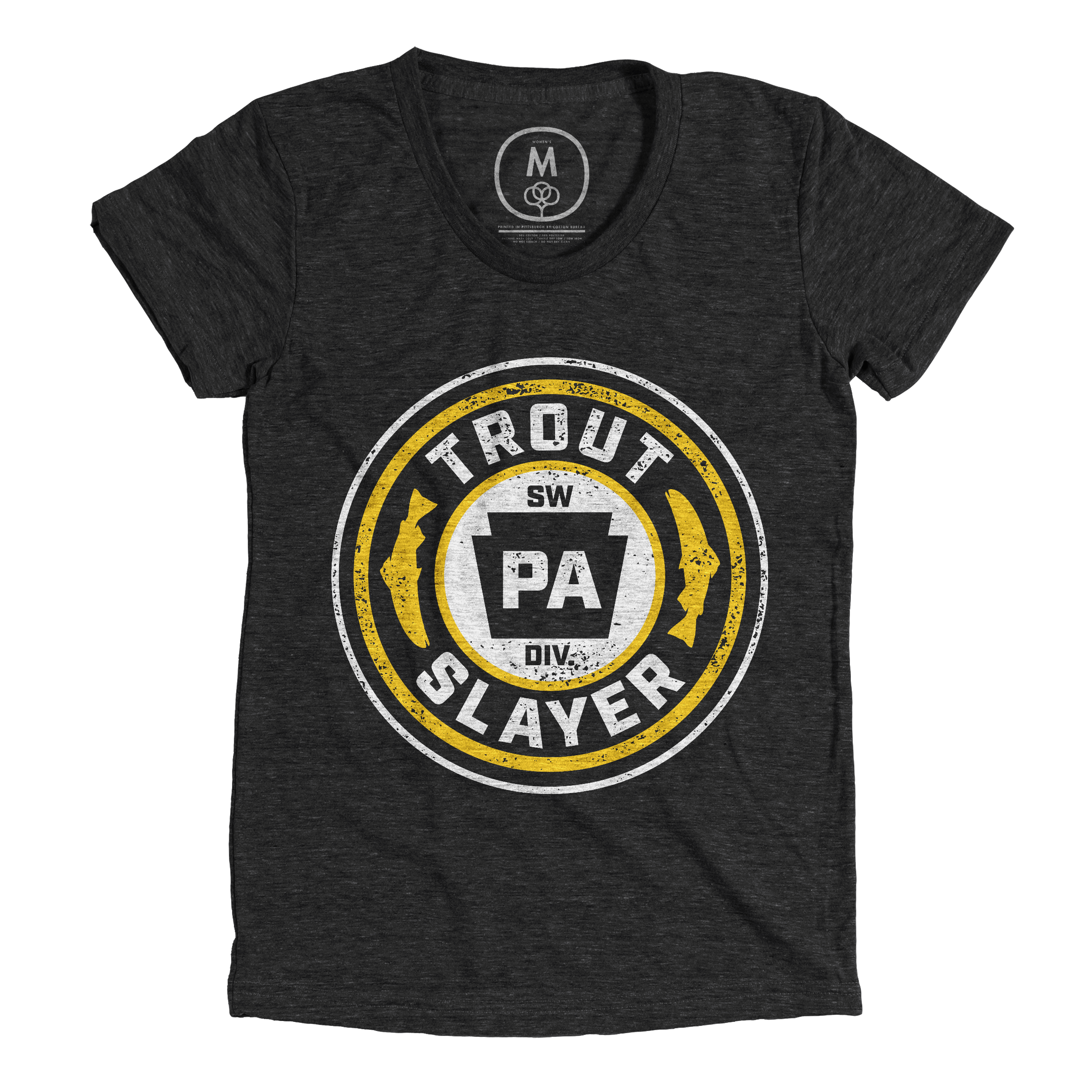 PA Trout Slayer Vintage Black (Women's)