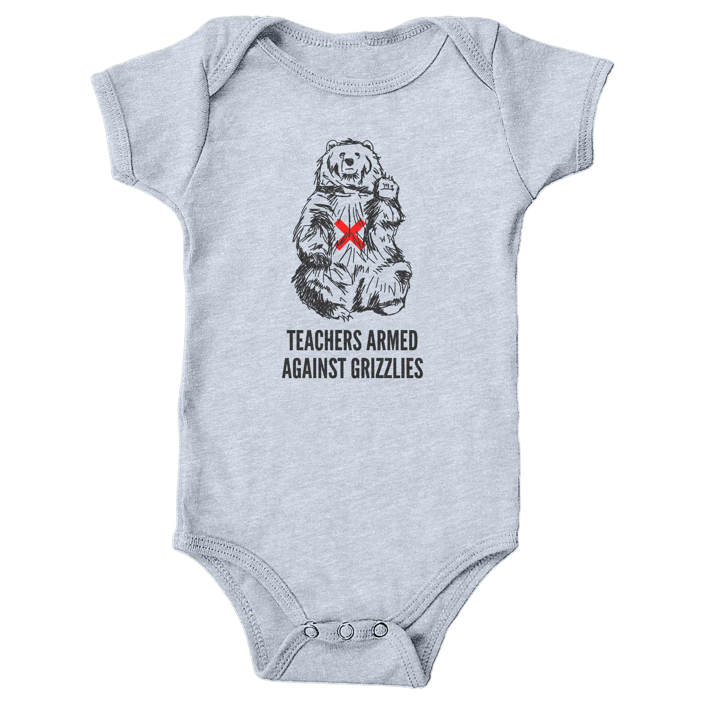 Teachers Armed Against Grizzlies Heather Grey (Onesie)
