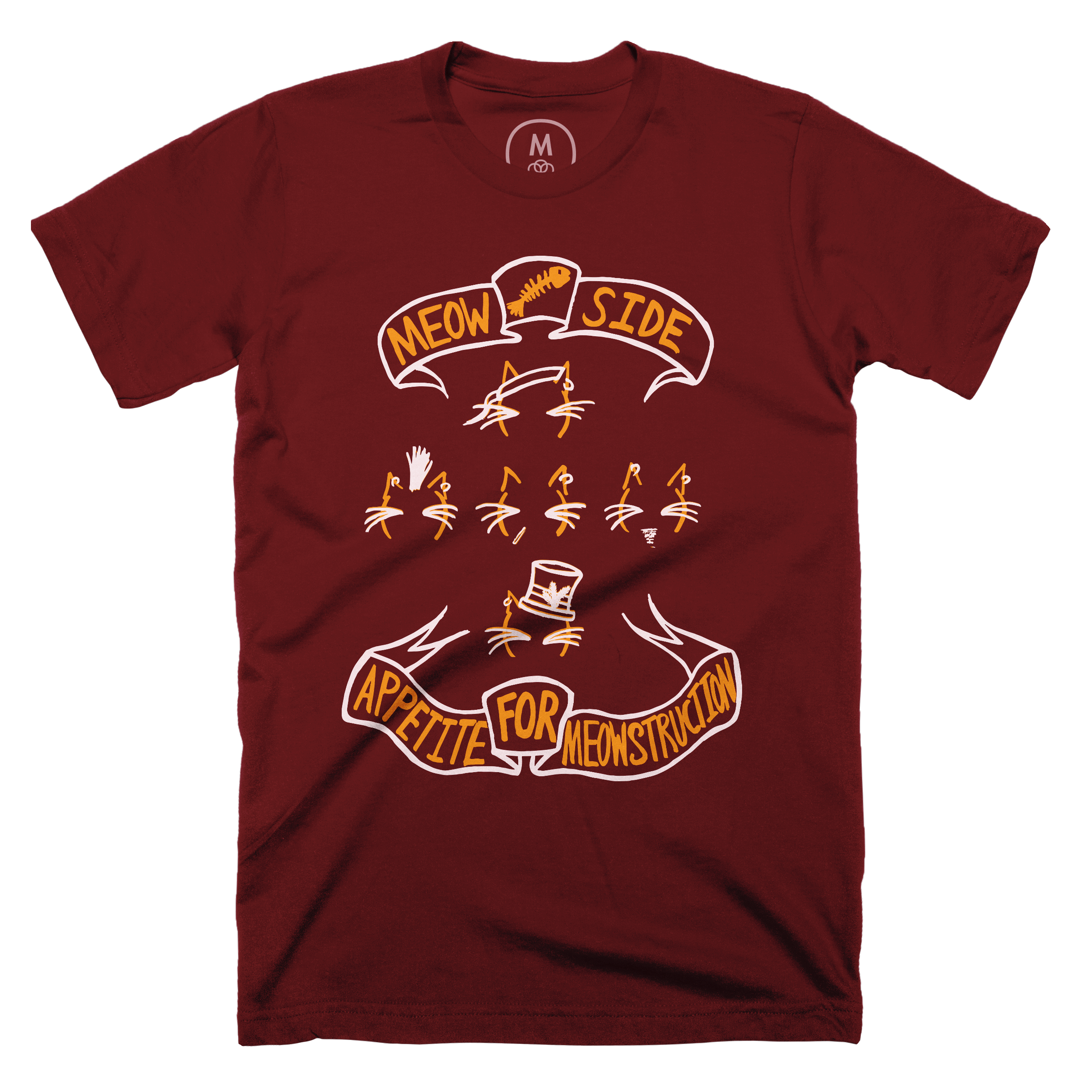 Appetite for Meowstruction Maroon (Men's)