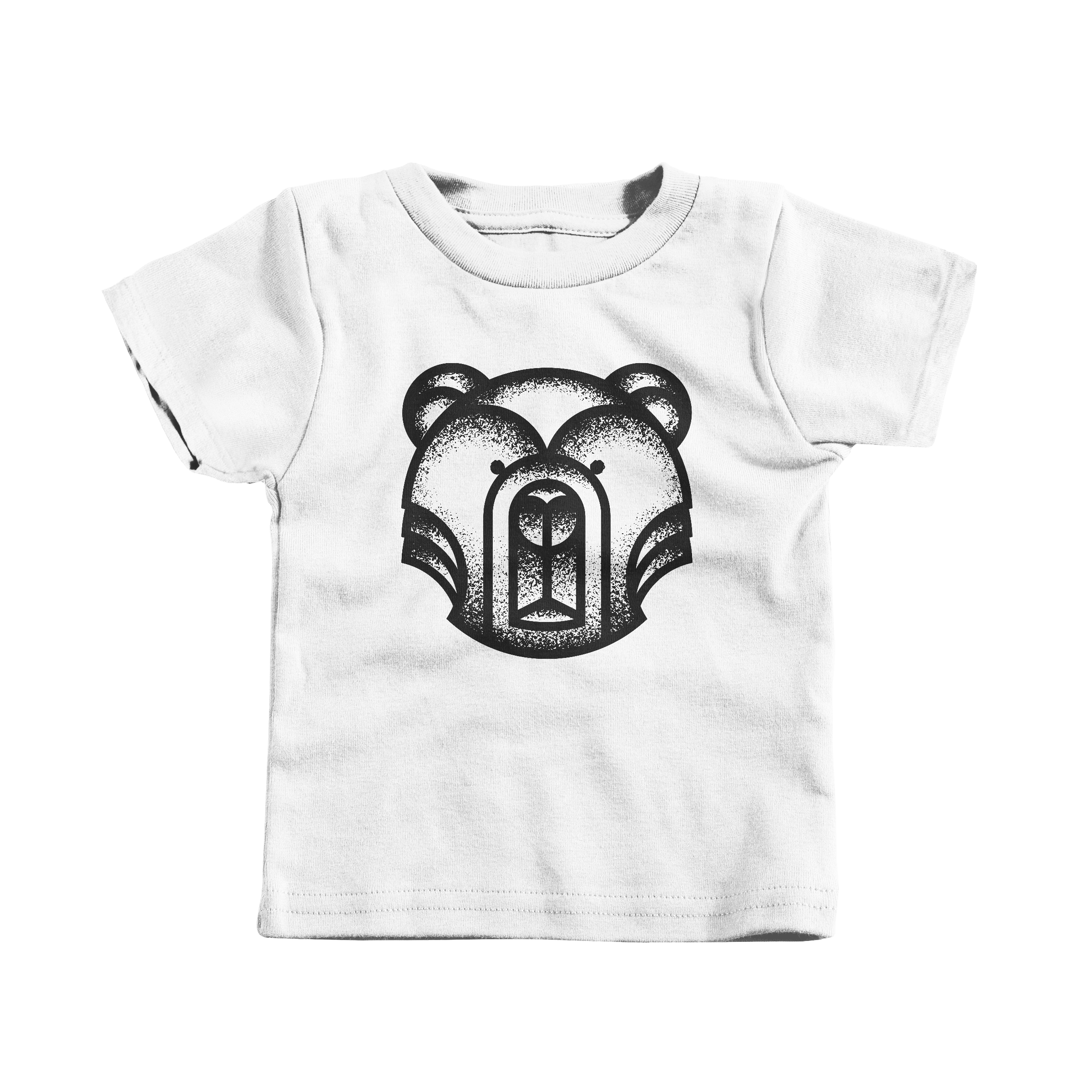 Geometric Bear White (T-Shirt)