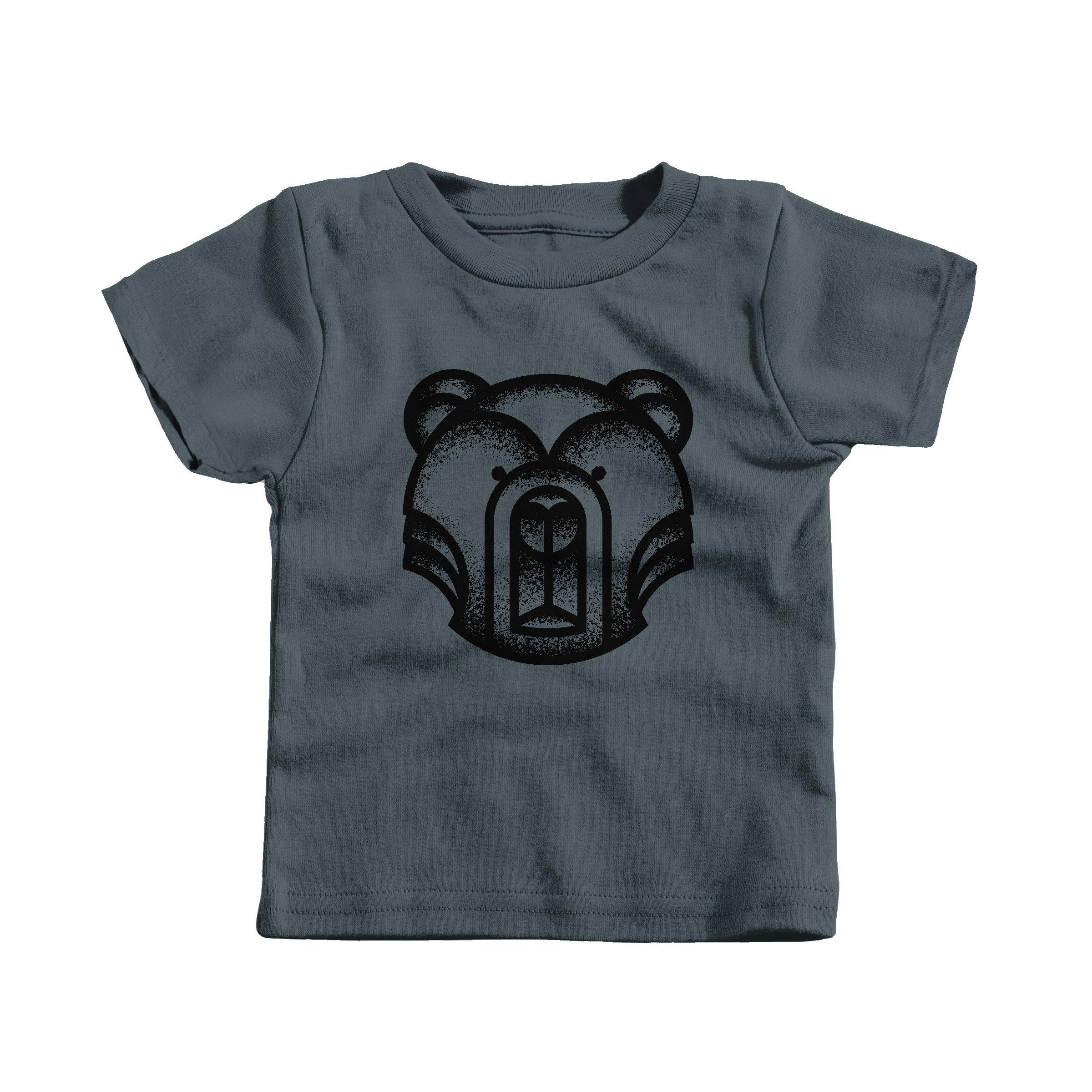 Geometric Bear Charcoal (T-Shirt)