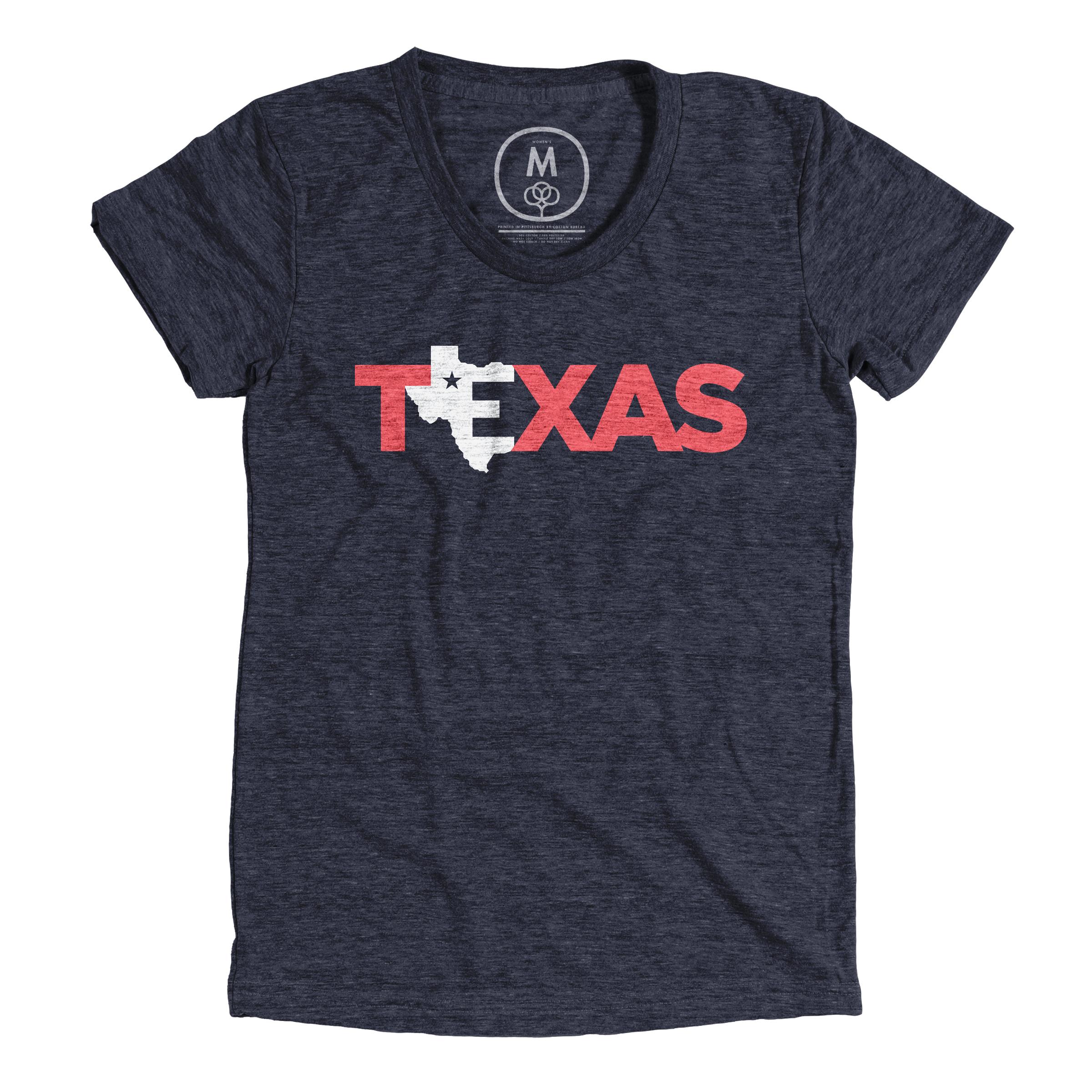 Texas = Home  Vintage Navy (Women's)