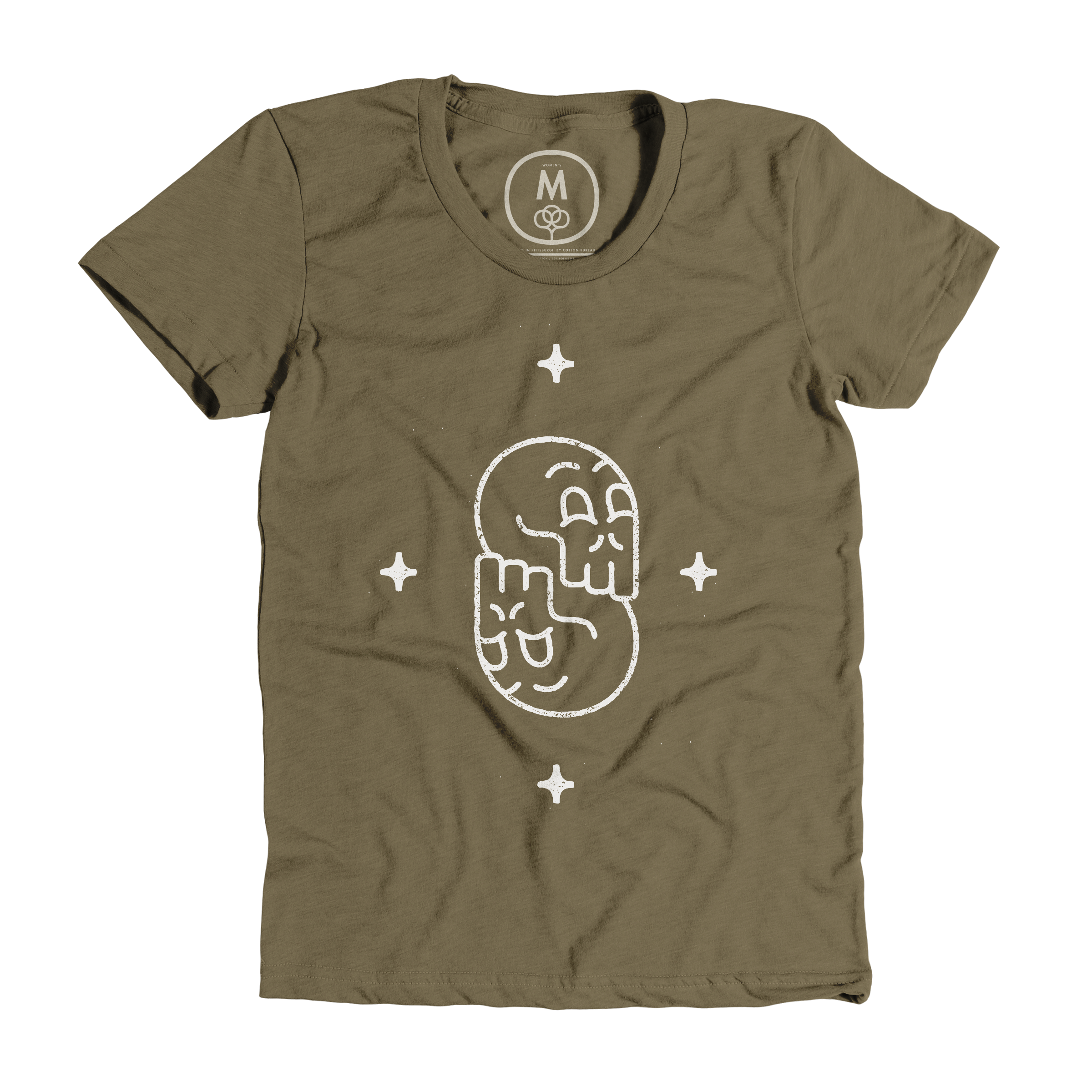 S is for Skulls Military Green (Women's)
