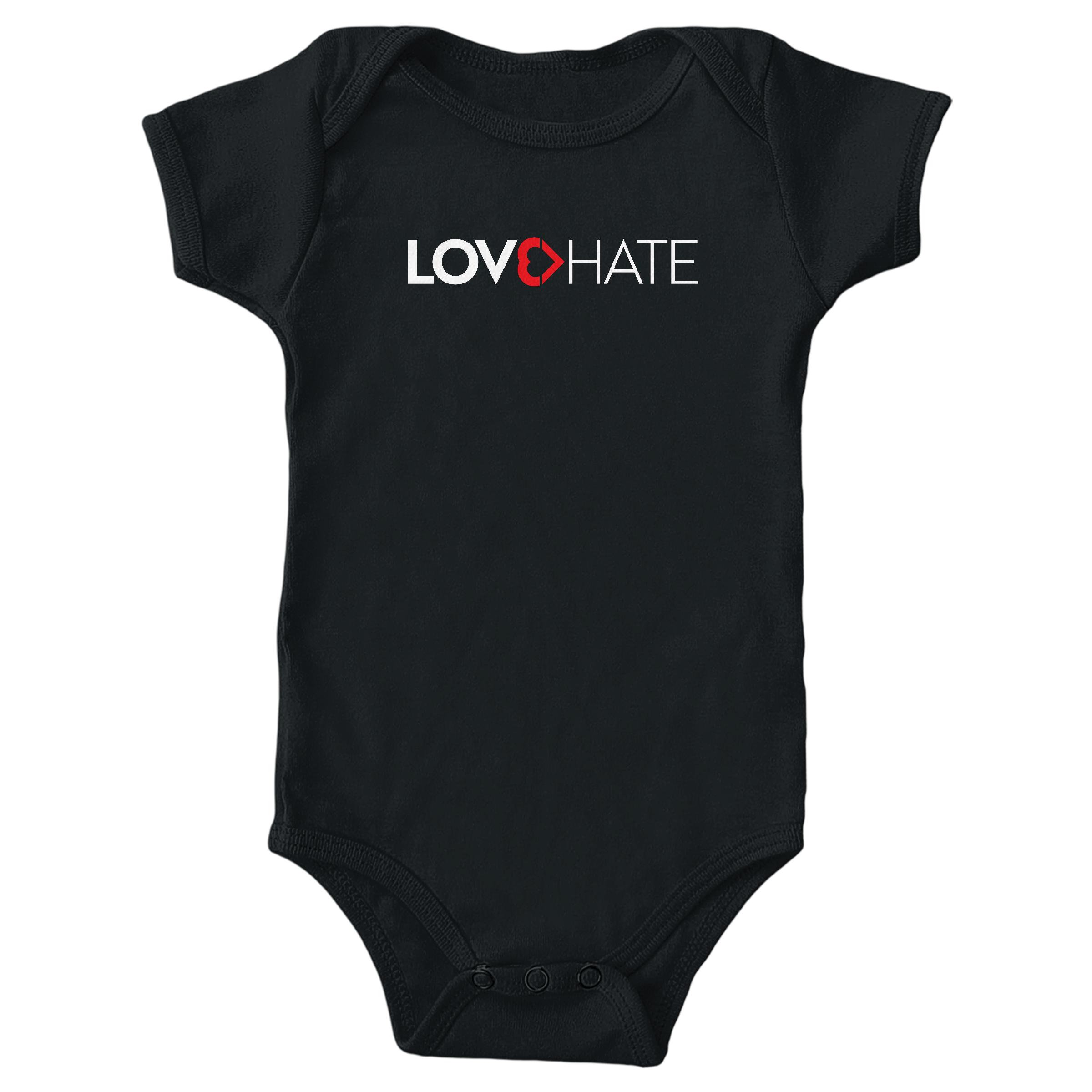 Love Is Greater Than Hate Black (Onesie)