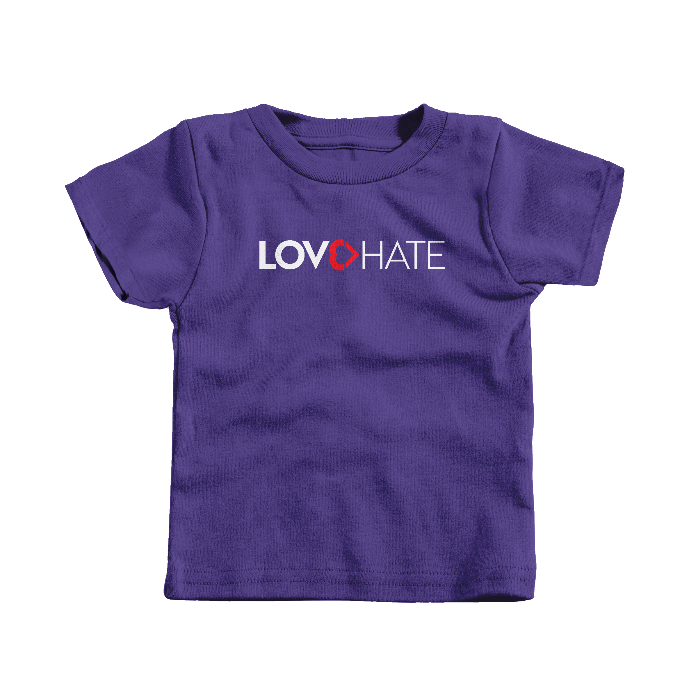 Love Is Greater Than Hate Purple (T-Shirt)