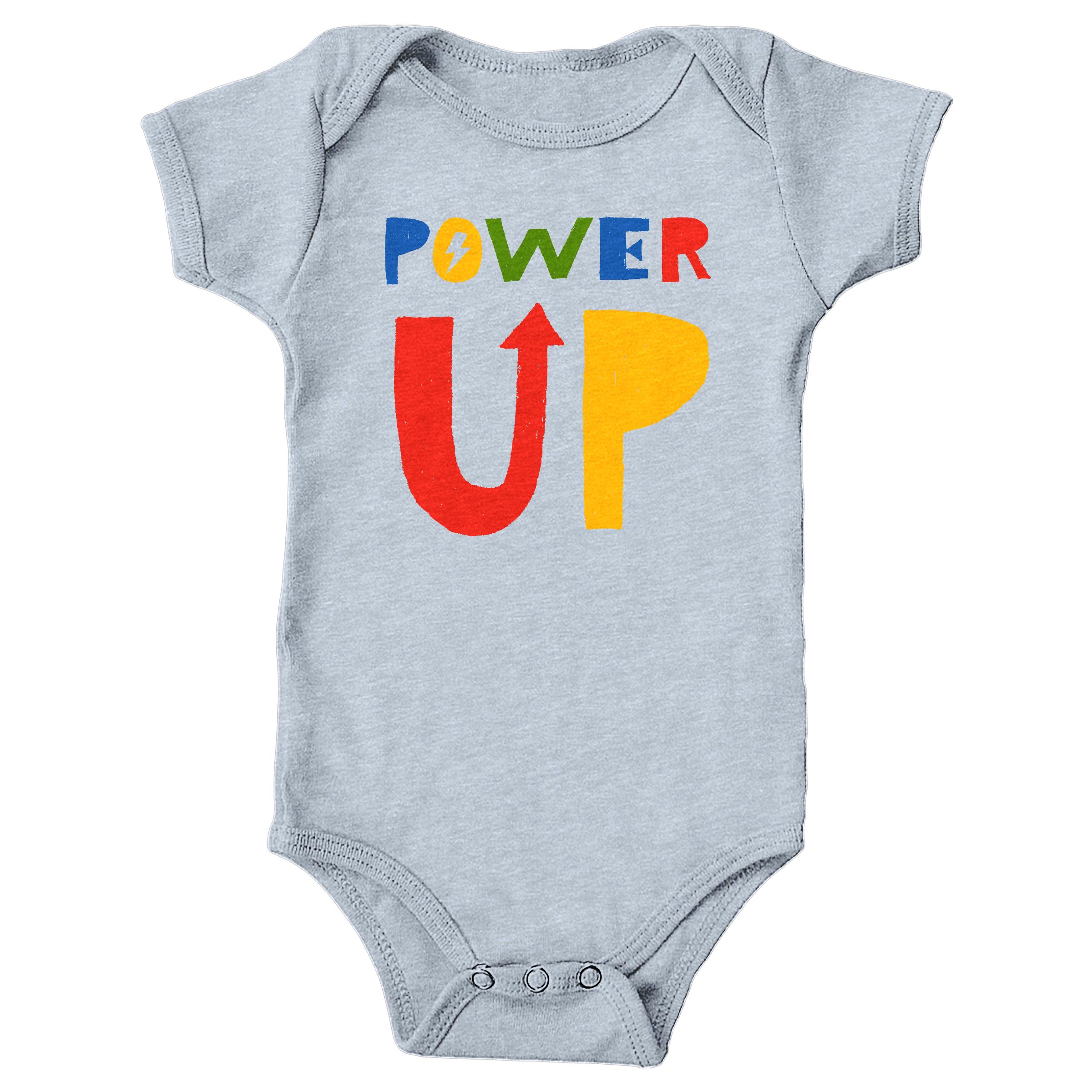 Power Up Heather Grey (Onesie)