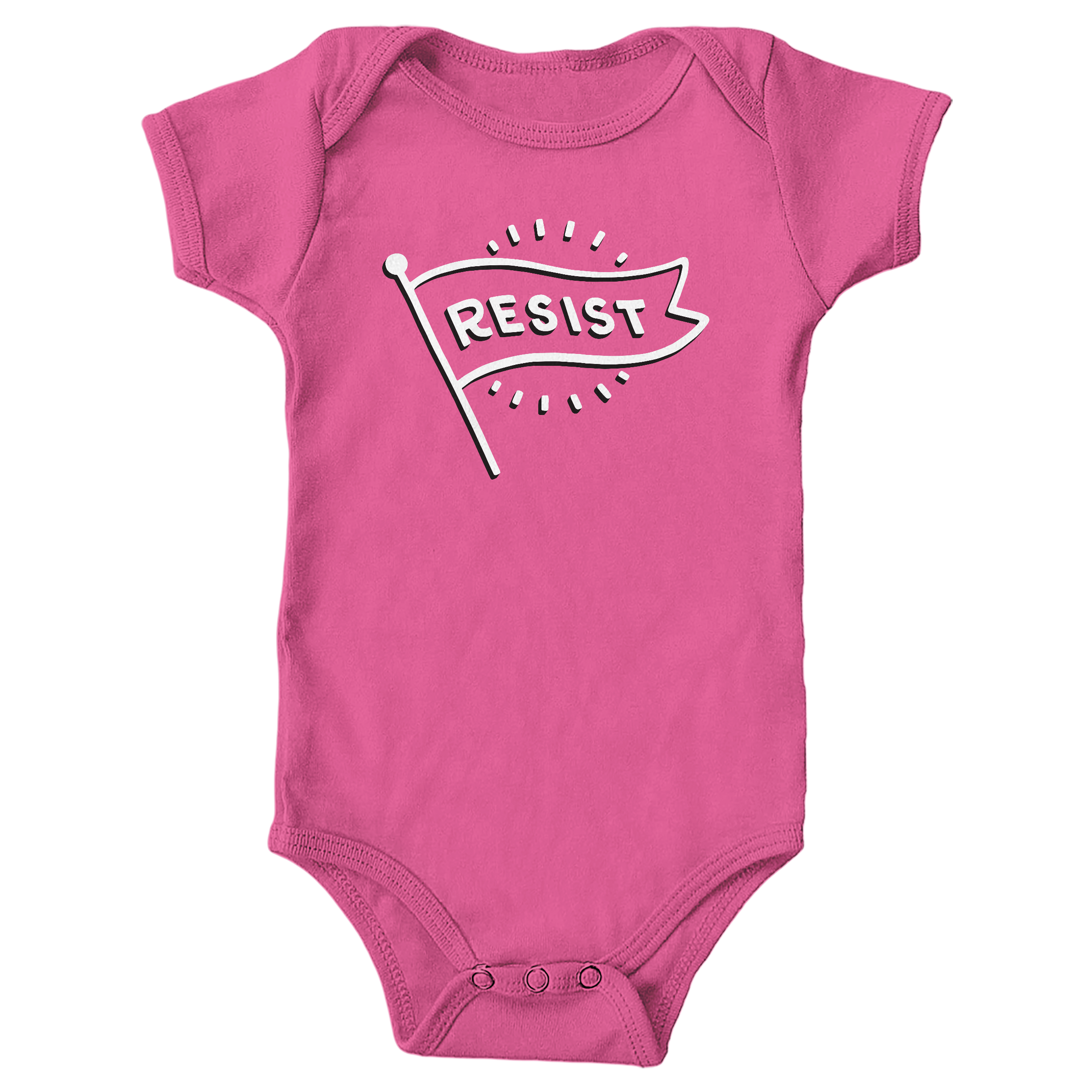 Flag of Resistance Hot Pink (Onesie)