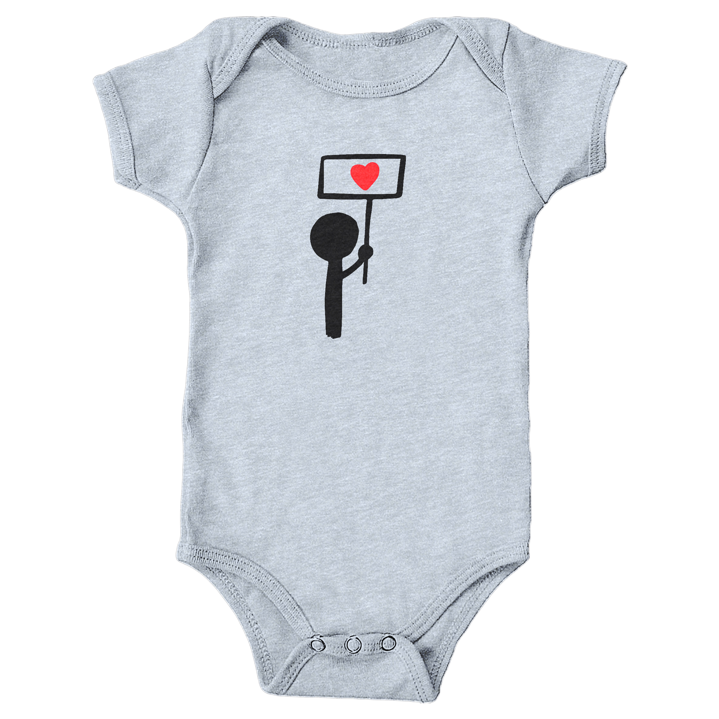 Stand for Love Heather Grey (Onesie)