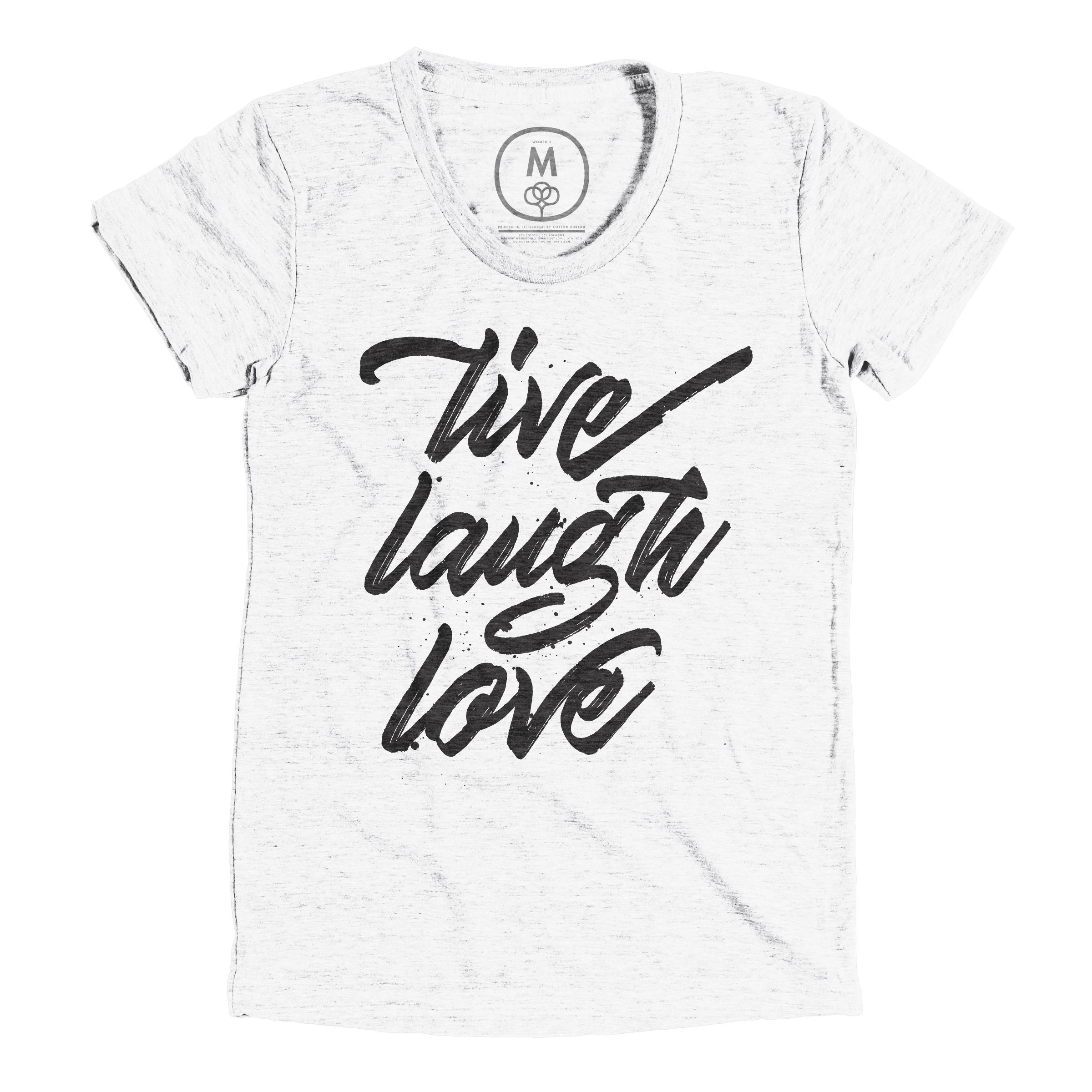 Live. Laugh. Love Heather White (Women's)