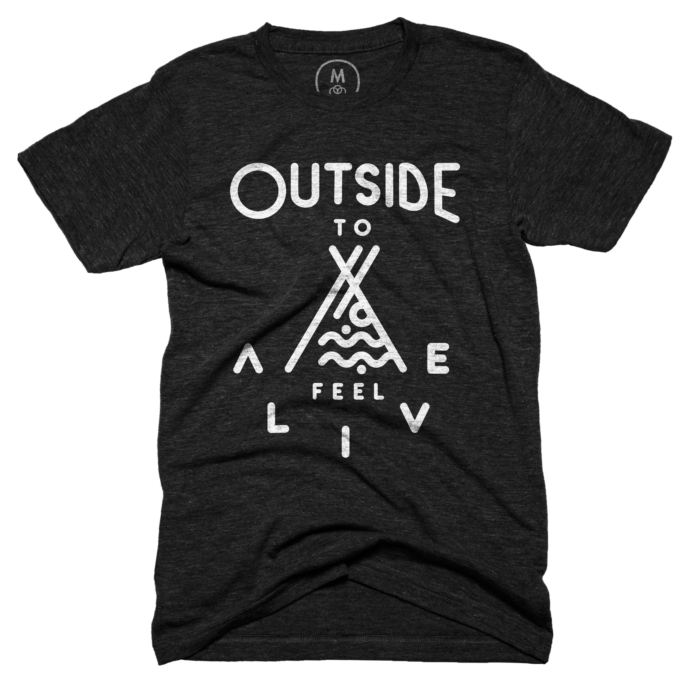 Outside to Feel Alive Vintage Black (Men's)