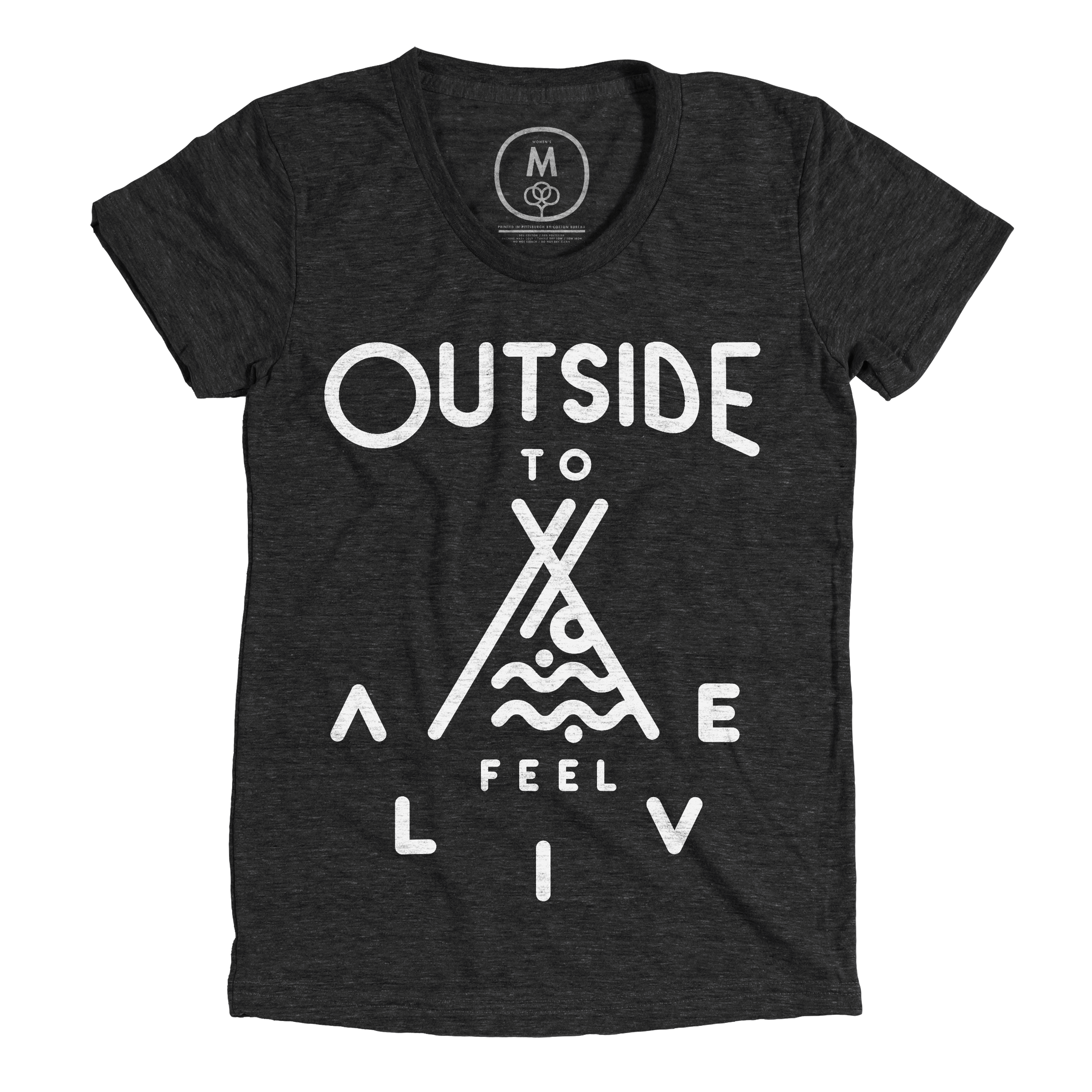Outside to Feel Alive Vintage Black (Women's)