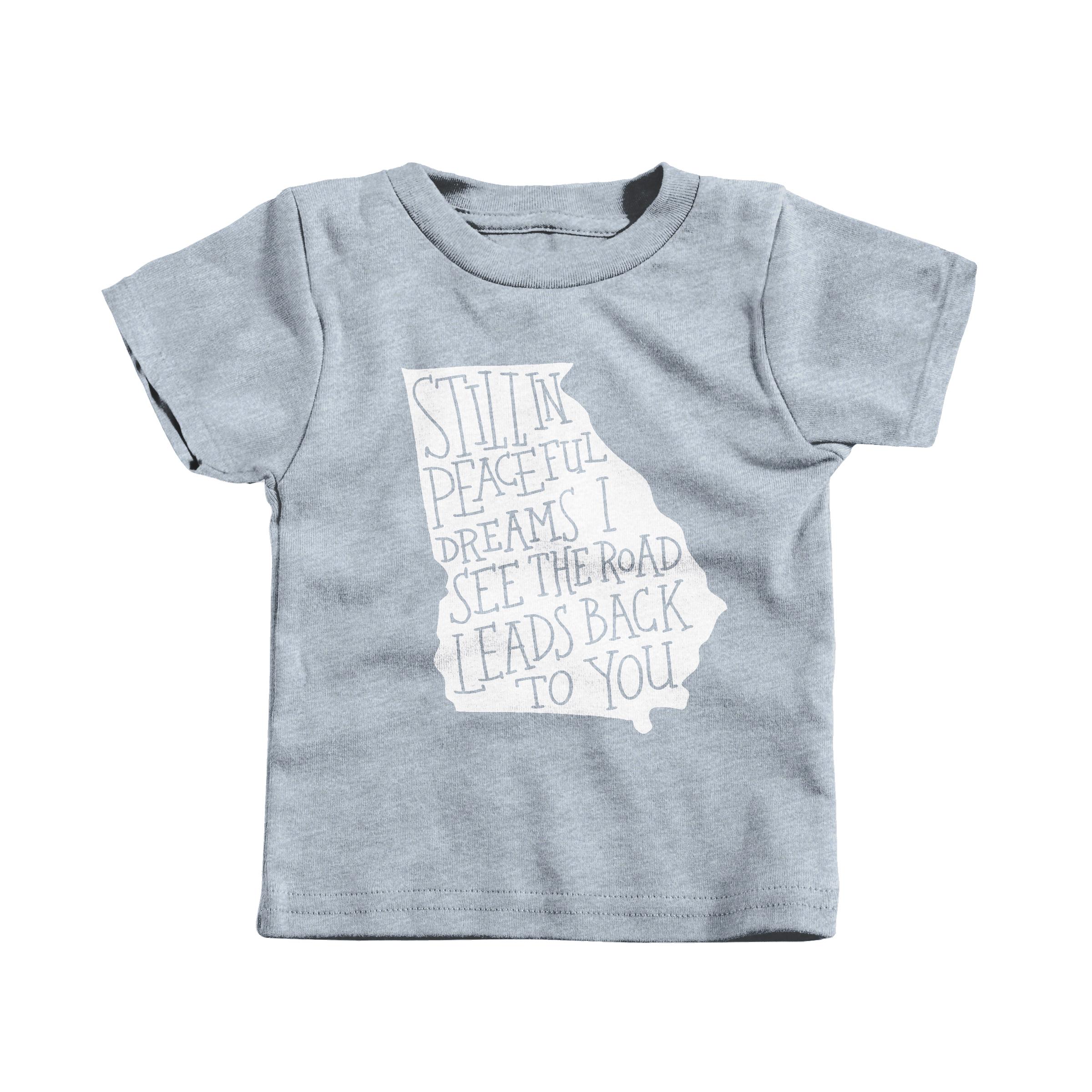 Georgia On My Mind Heather Grey (T-Shirt)