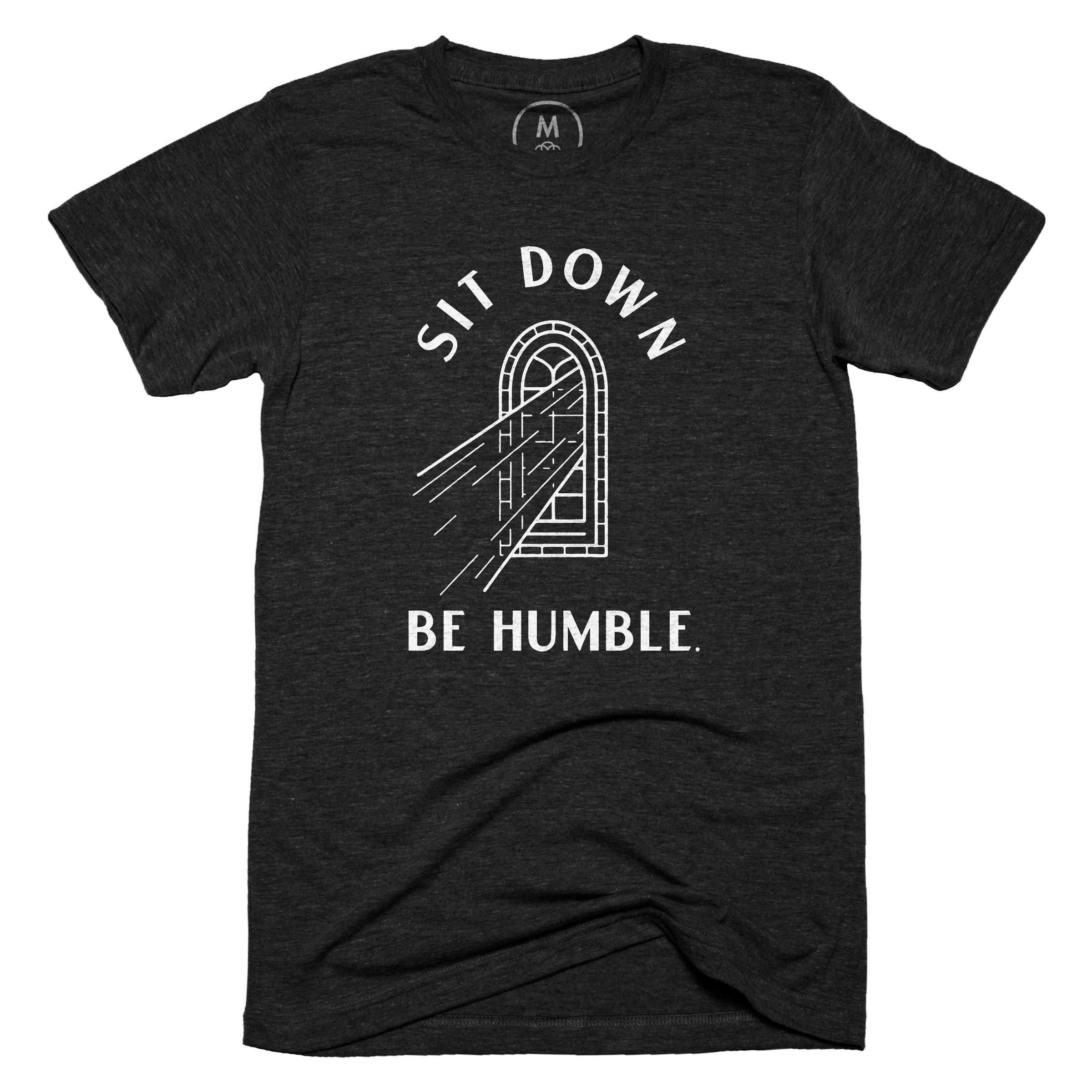 Sit Down, Be Humble. Vintage Black (Men's)